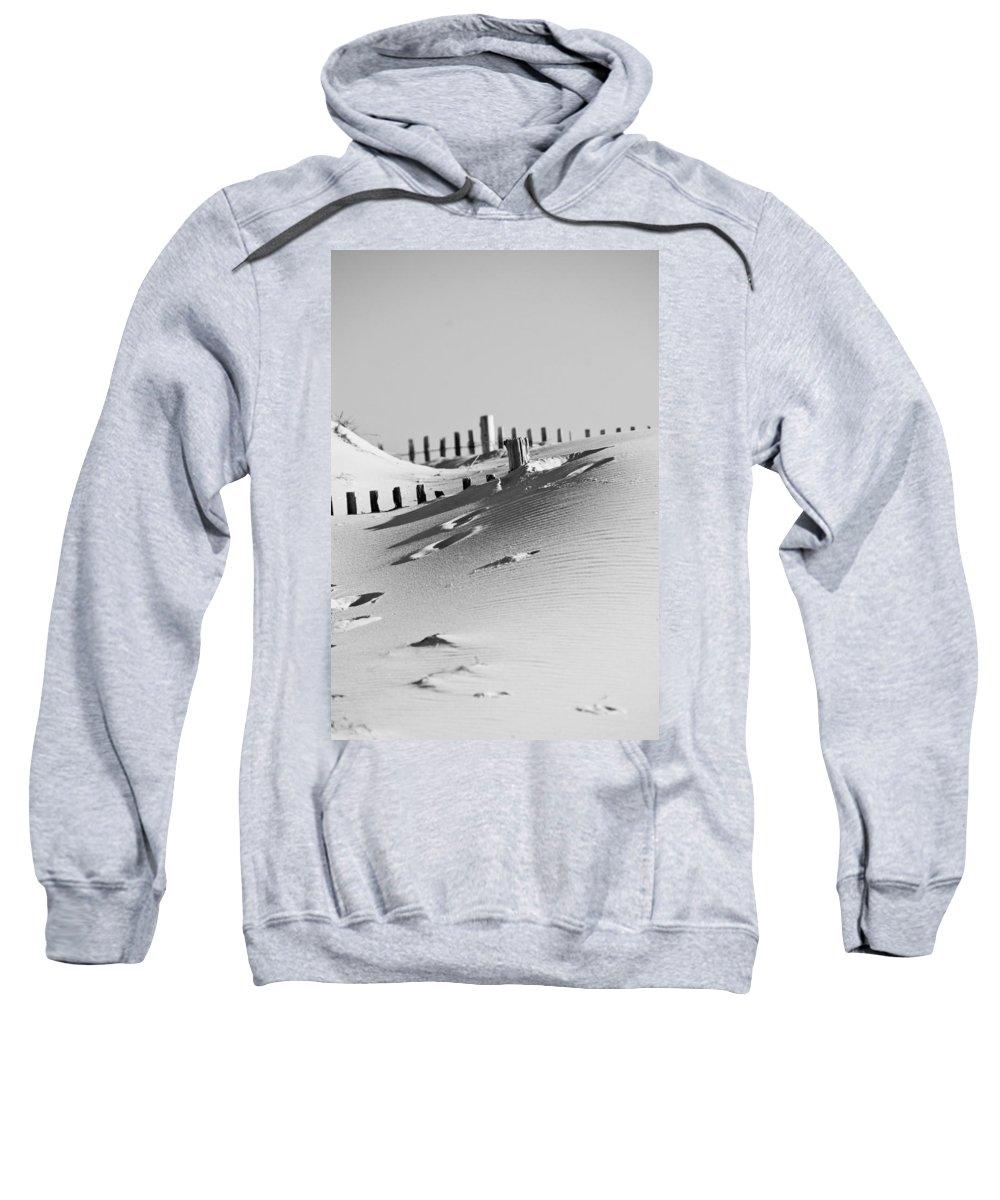 Sand Sweatshirt featuring the photograph Desert Beach by Trish Tritz