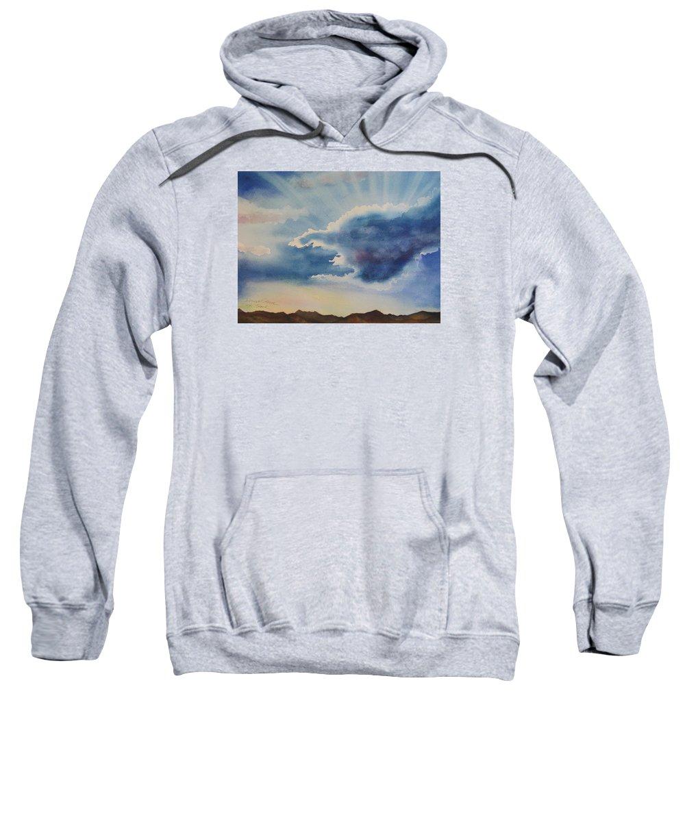 Light Sweatshirt featuring the painting Desert Storm by Karen Stark