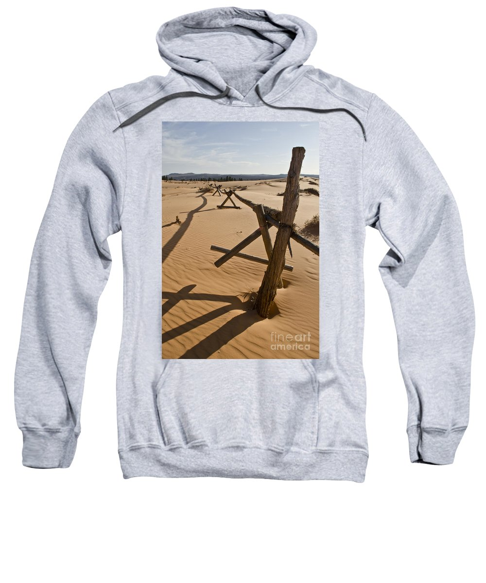 Coral Pink Sand Dunes Sweatshirt featuring the photograph Desolate by Heather Applegate