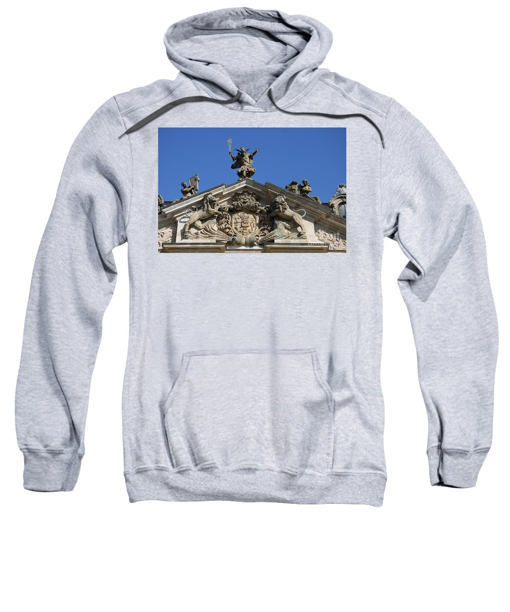 Relief Sweatshirt featuring the photograph Detail Palace Weissenstein by Christiane Schulze Art And Photography