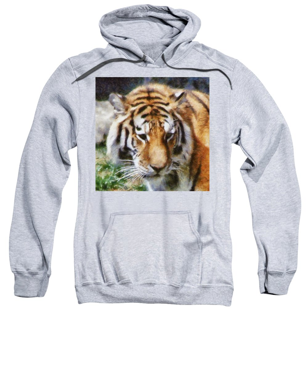 Tiger Sweatshirt featuring the photograph Detroit Tiger by Michelle Calkins