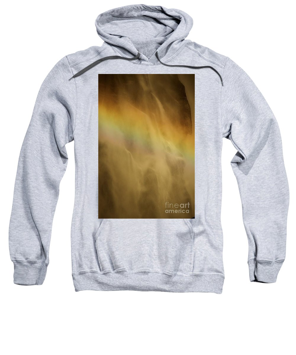 Yosemite National Park Sweatshirt featuring the photograph Devil's Rainbow by Adam Jewell