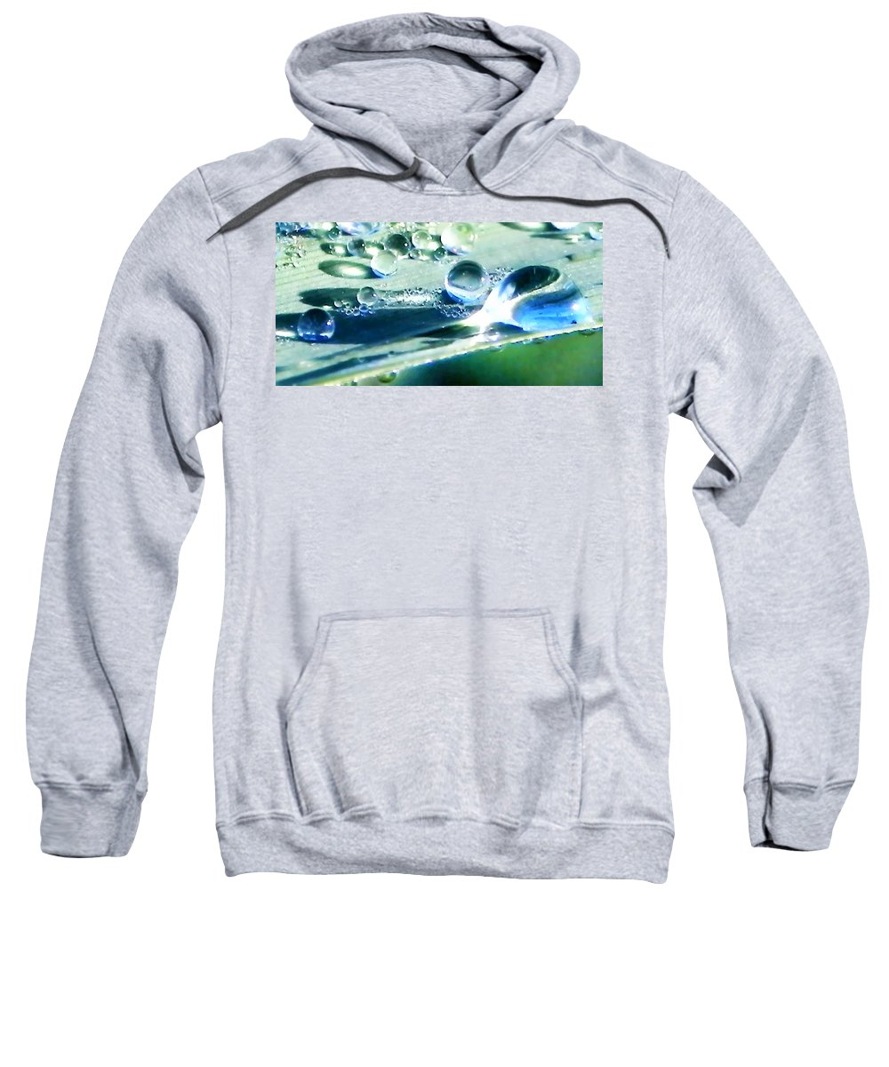 Beads Sweatshirt featuring the photograph Dew by Francesa Miller