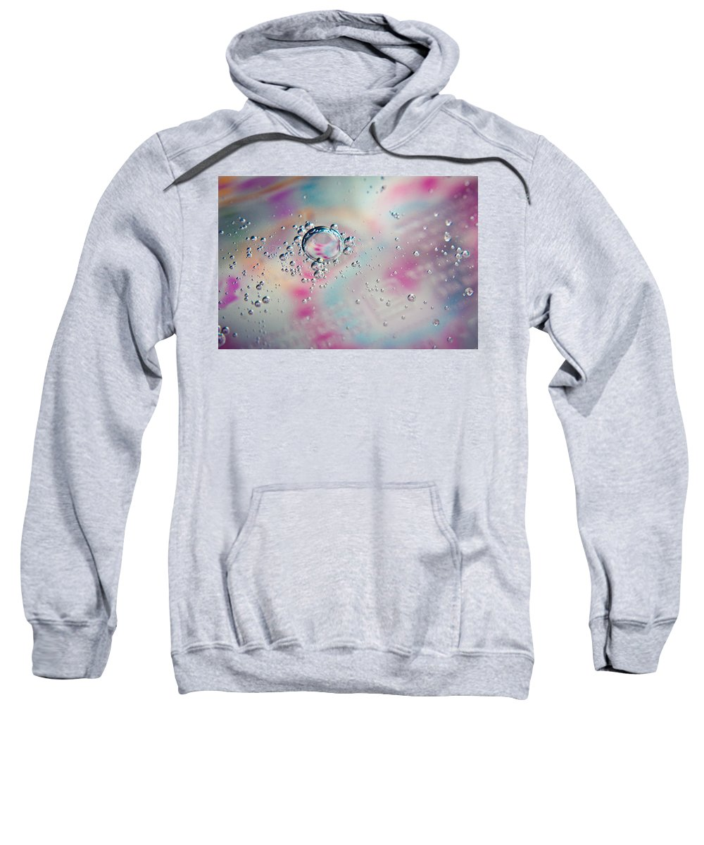 Abstract Sweatshirt featuring the photograph Dewdrops by Sara Frank