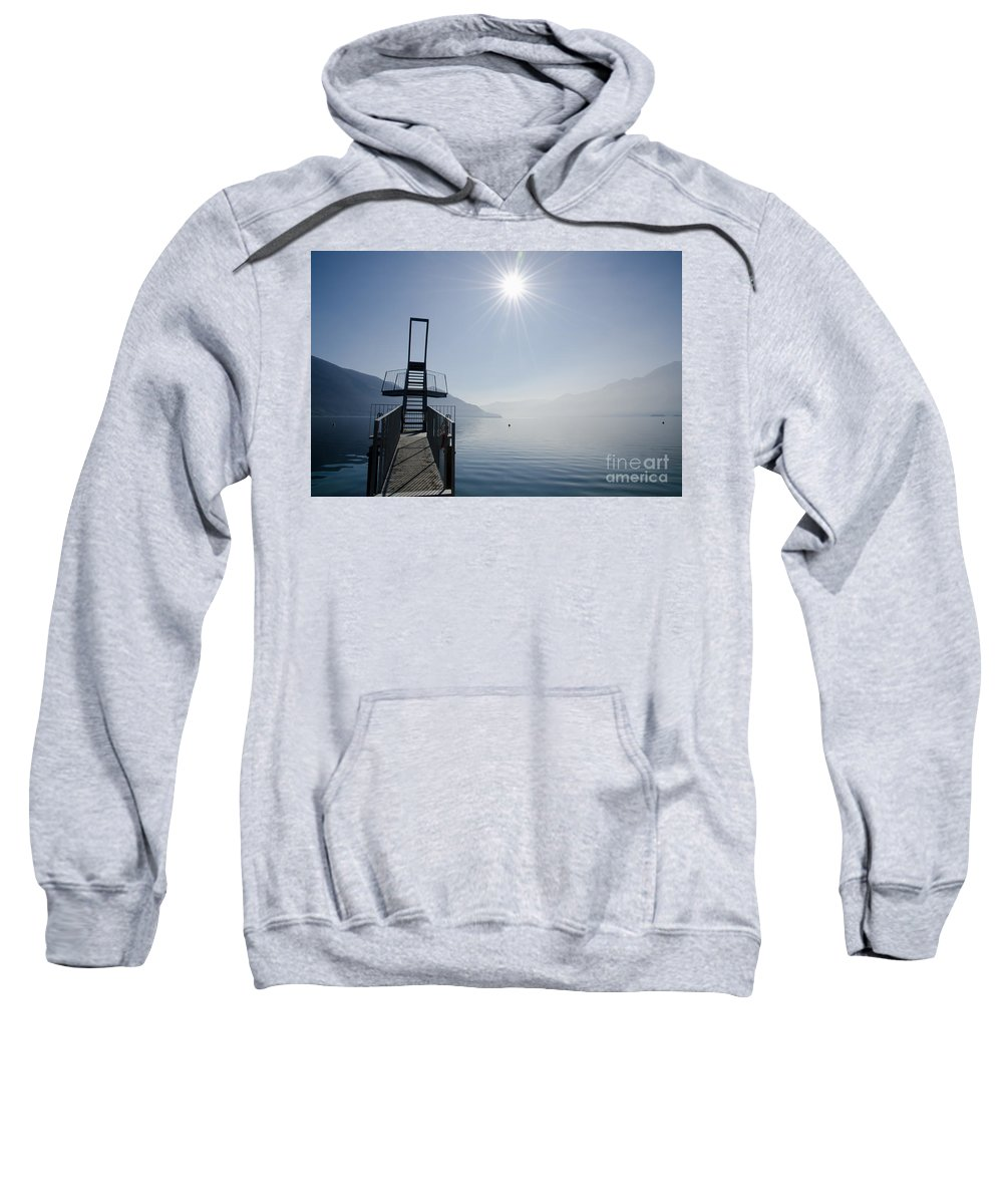 Diving Board Sweatshirt featuring the photograph Diving Board by Mats Silvan