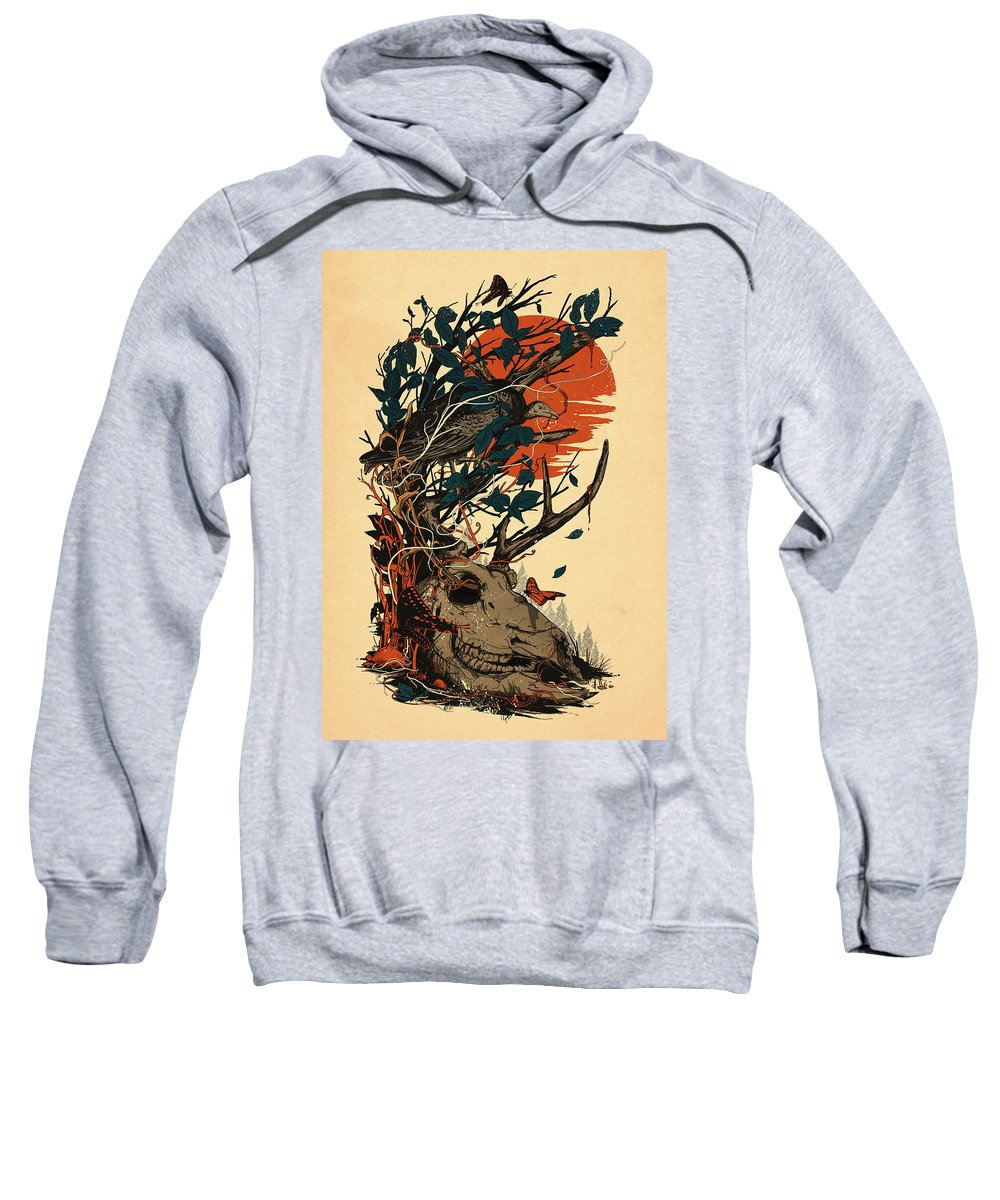 Skull Sweatshirt featuring the mixed media Dominate by Nicebleed