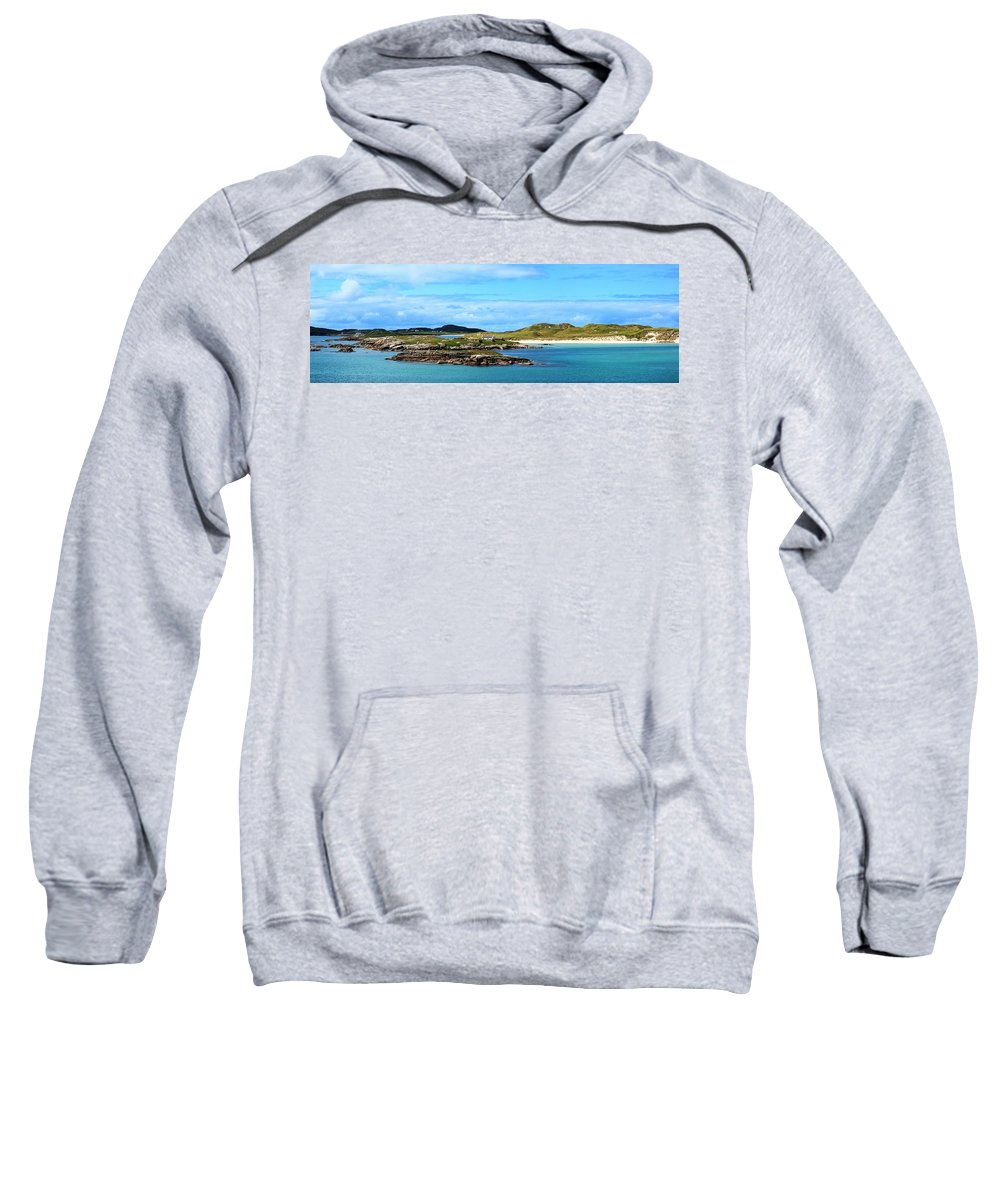 Architectural Exterior Sweatshirt featuring the photograph Donegal Coastline Near Bunbeg,co by Peter Zoeller