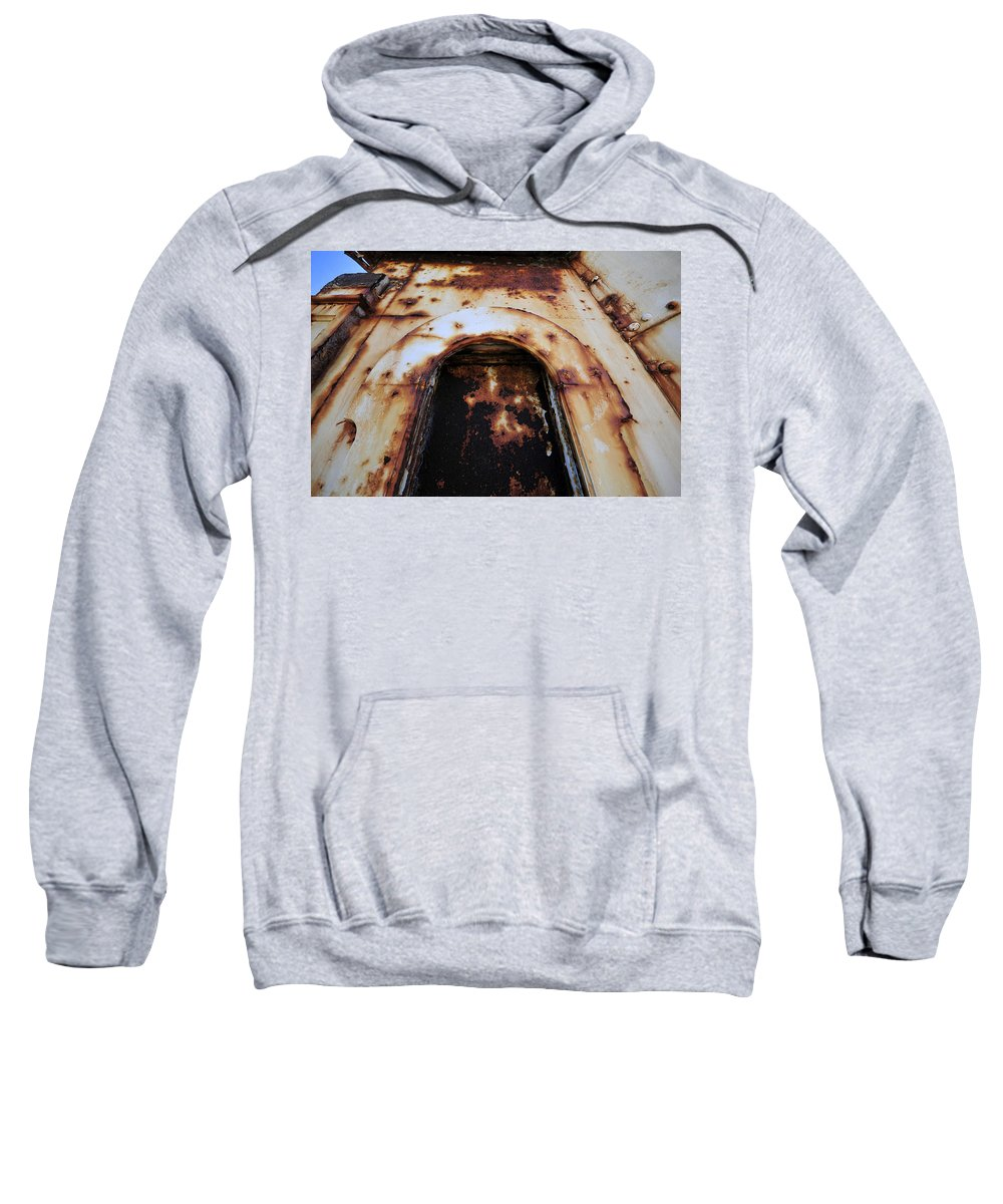 Fine Art Photography Sweatshirt featuring the photograph Door Of Rust by David Lee Thompson