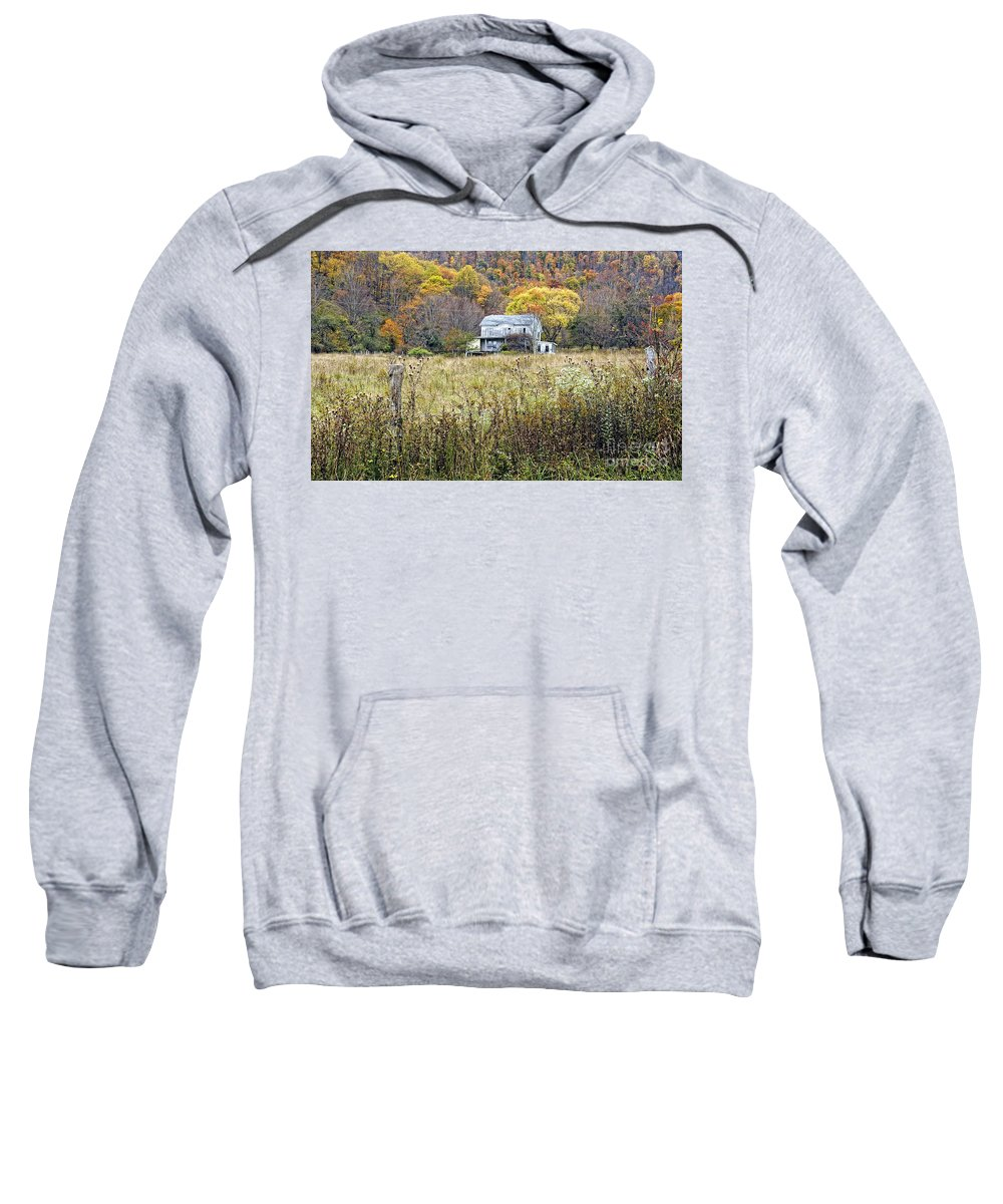 West Virginia Sweatshirt featuring the photograph Down In A West Va Valley by Kathleen K Parker