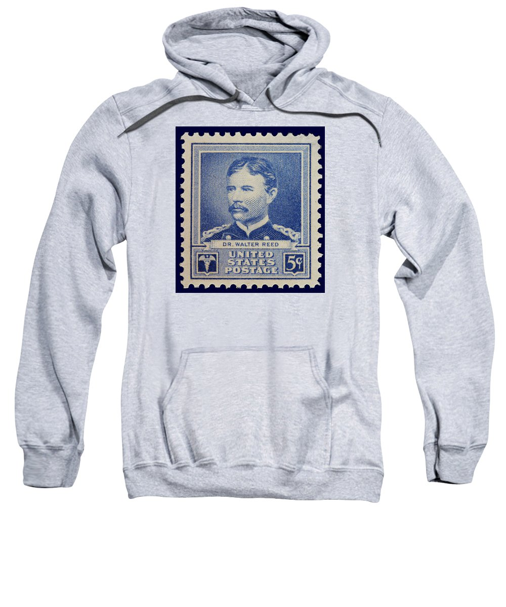 Dr Walter Reed Sweatshirt featuring the photograph Dr Walter Reed Postage Stamp by James Hill