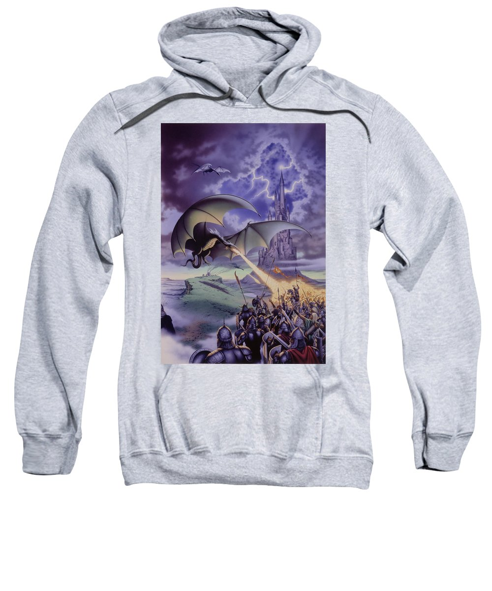 Dragon Sweatshirt featuring the photograph Dragon Combat by The Dragon Chronicles - Steve Re