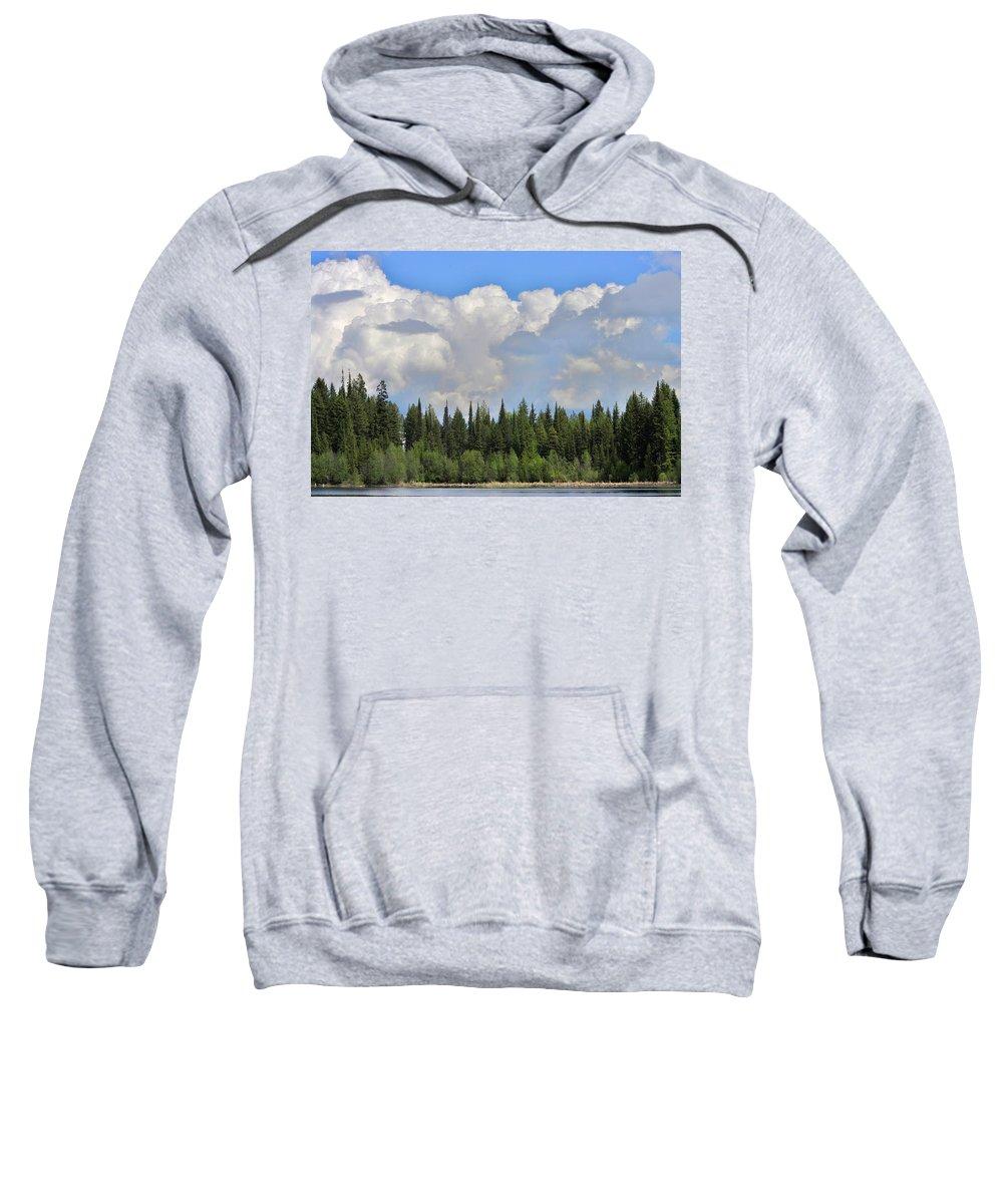 Marshall Lake Sweatshirt featuring the photograph Dramatic Sky Marshall Lake by John Greaves