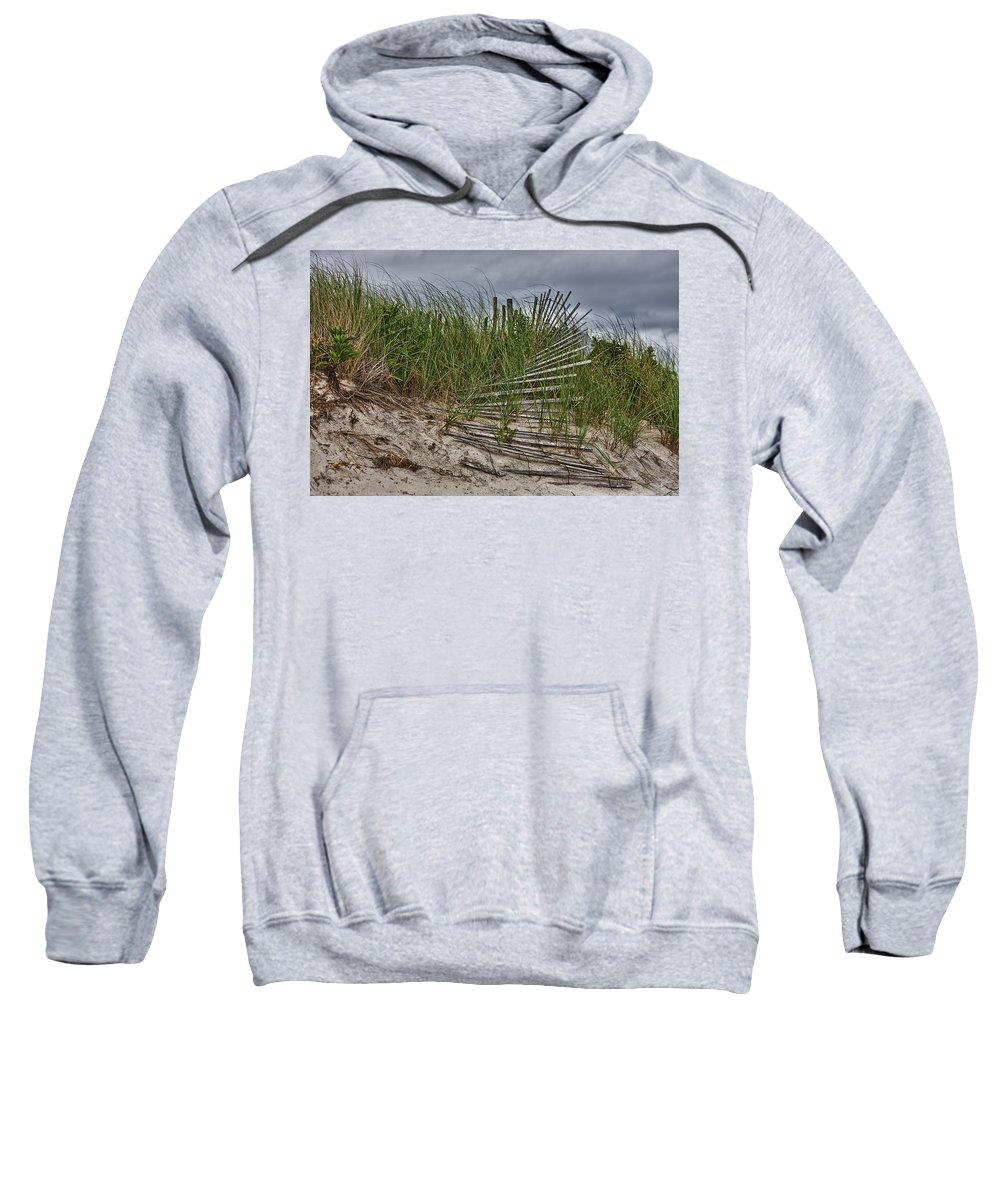 East Hampton Sweatshirt featuring the photograph Dunes by Rick Berk