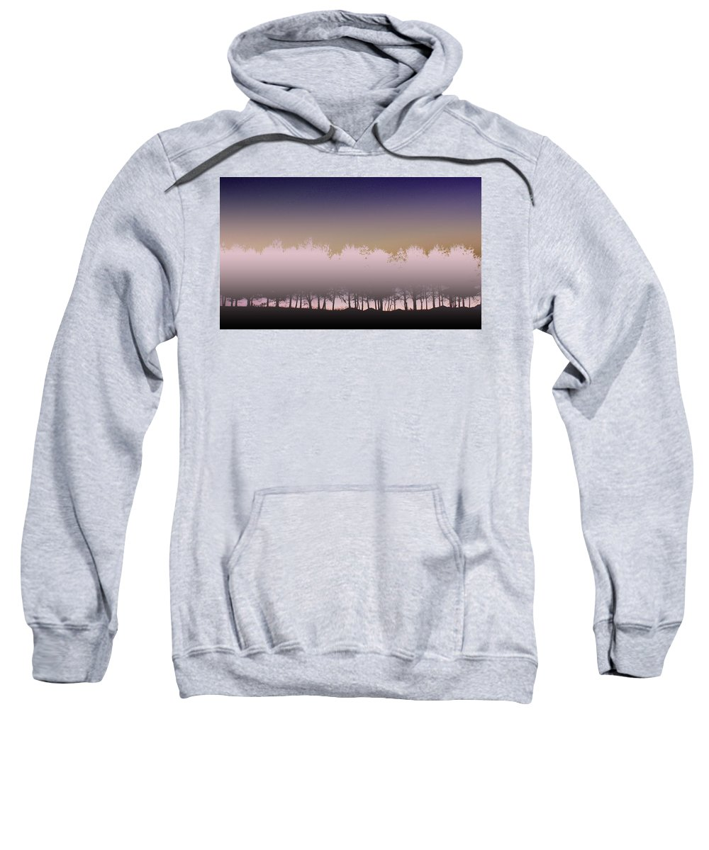 Row Of Trees Sweatshirt featuring the photograph Dusk by Gray Artus
