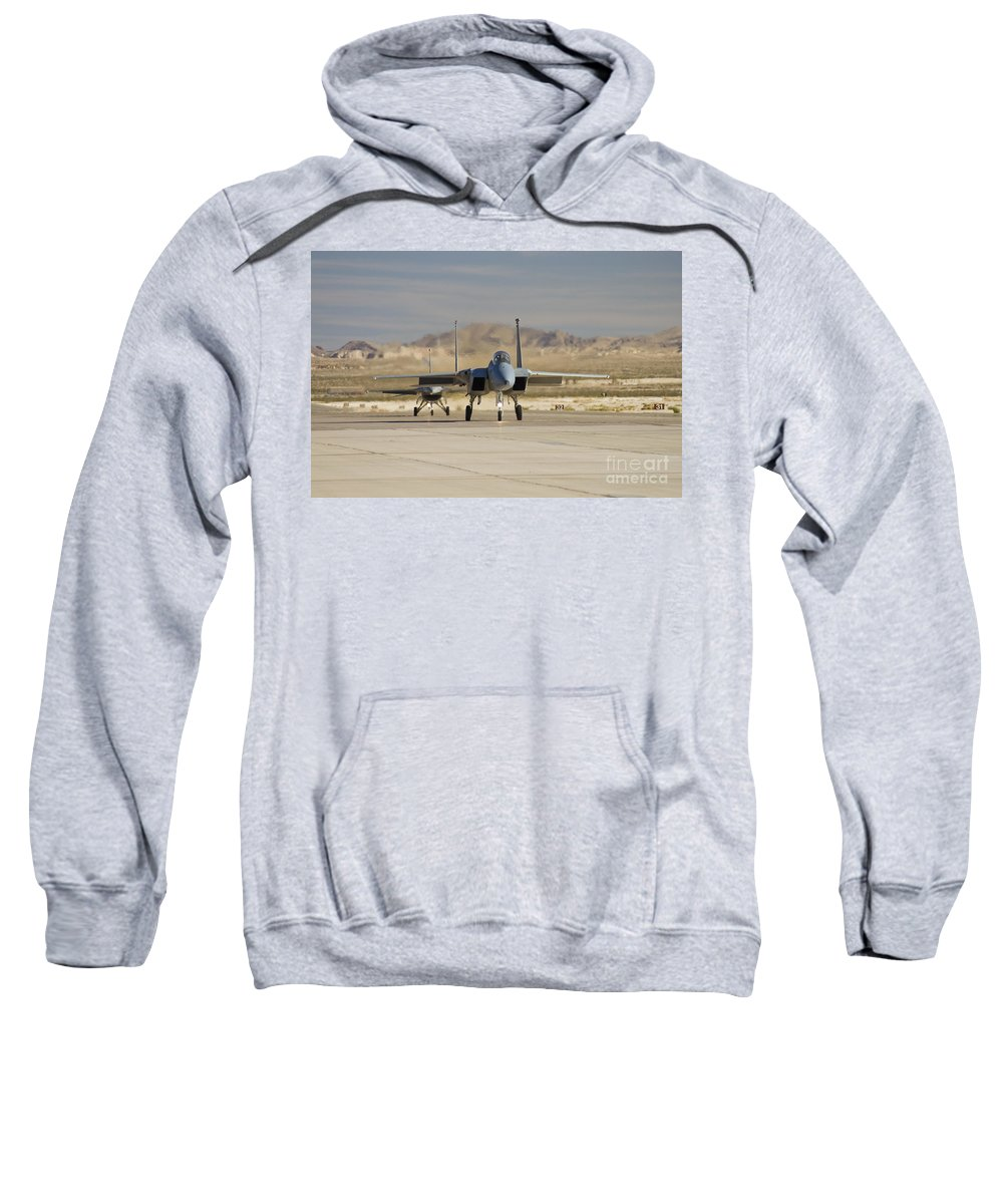 F-15 Sweatshirt featuring the photograph Eagle And Viper by Tim Mulina