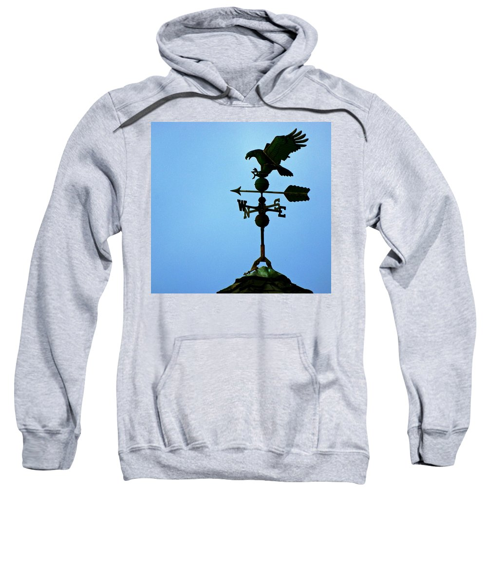 Weathervane Sweatshirt featuring the photograph Eagle Weathervane by Eric Tressler