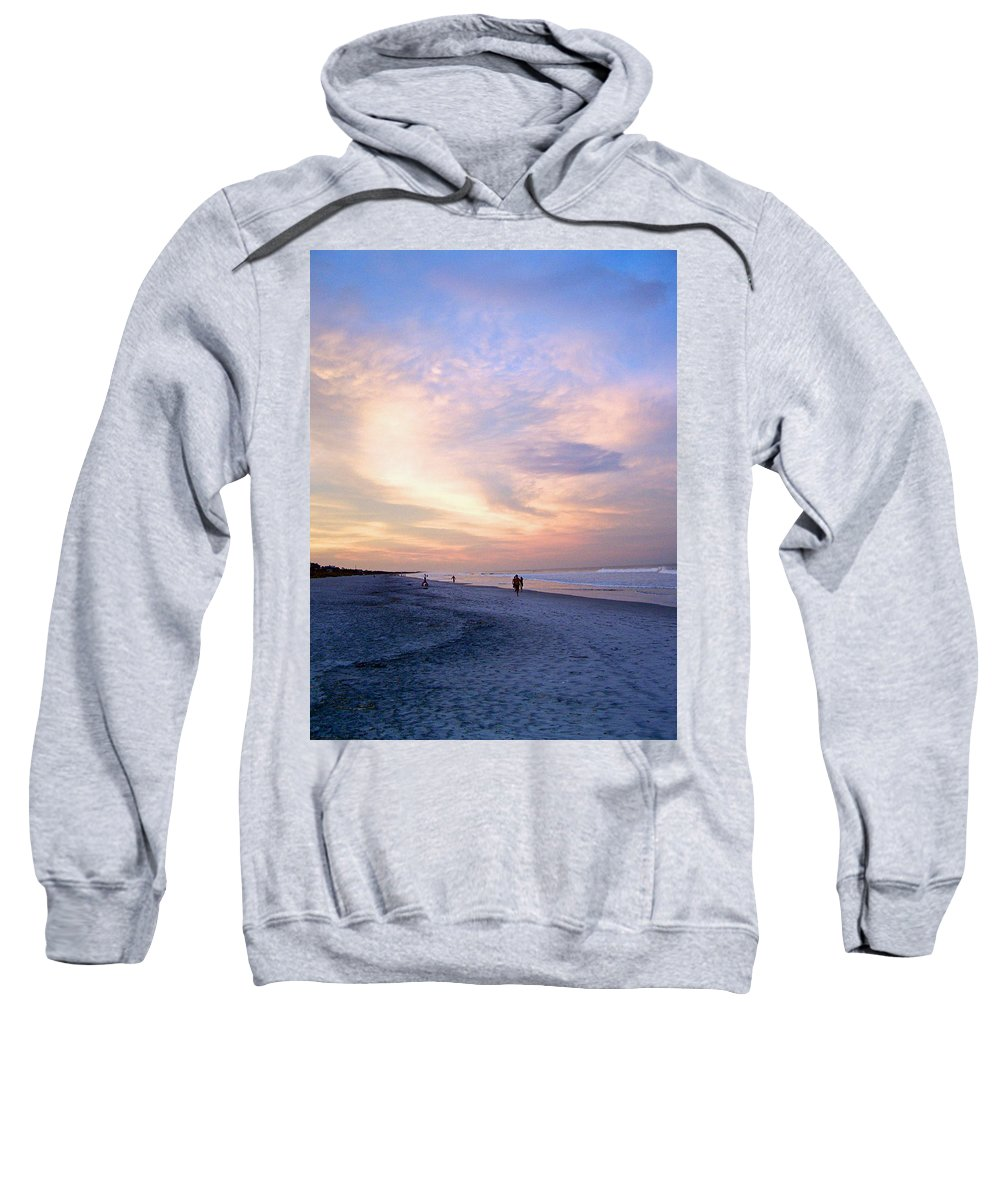 Beach Sweatshirt featuring the photograph Early Evening Beach Walk by Patricia Taylor