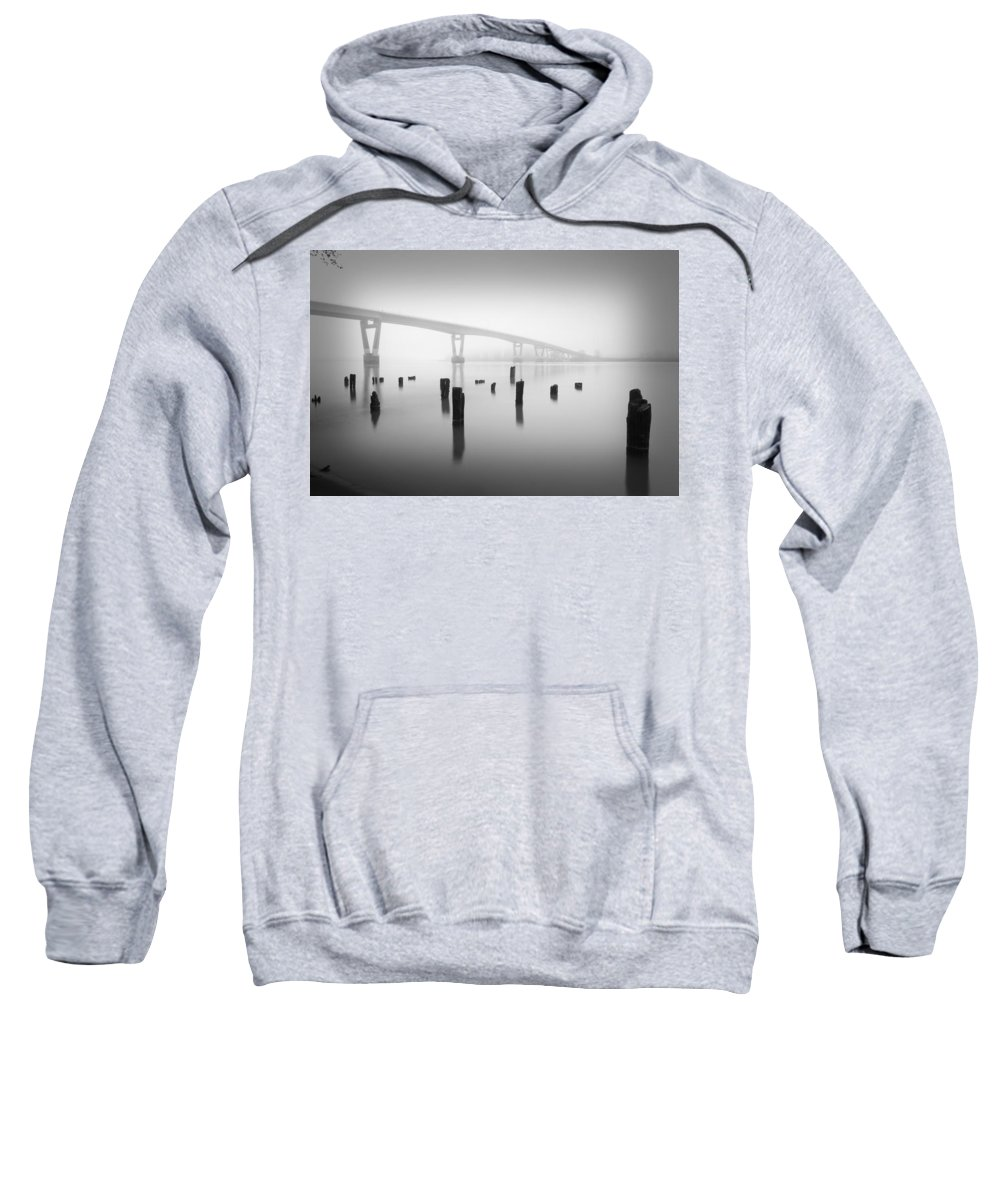 Bridge.structure Sweatshirt featuring the photograph Early Morning Mist by Brent Davis