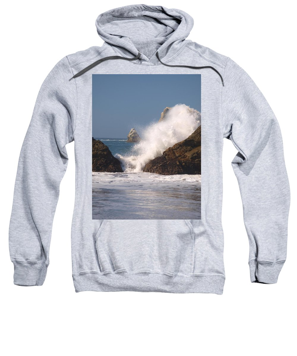 Water Sweatshirt featuring the photograph Earth Vs. Water by Teri Schuster