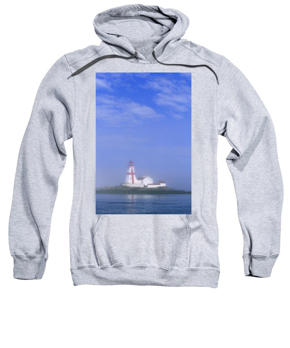 Bay Of Fundy Sweatshirt featuring the photograph East Quoddy Lighthouse, Campobello by John Sylvester