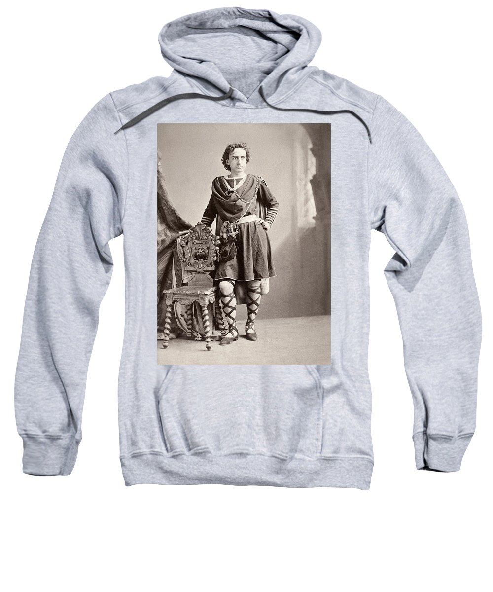 19th Century Sweatshirt featuring the photograph Edwin Booth (1833-1893) by Granger