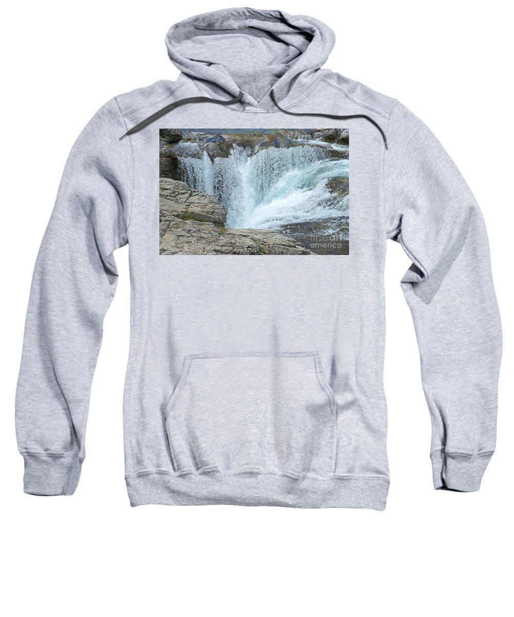Waterfalls Sweatshirt featuring the photograph Elbow Falls by Randy Harris