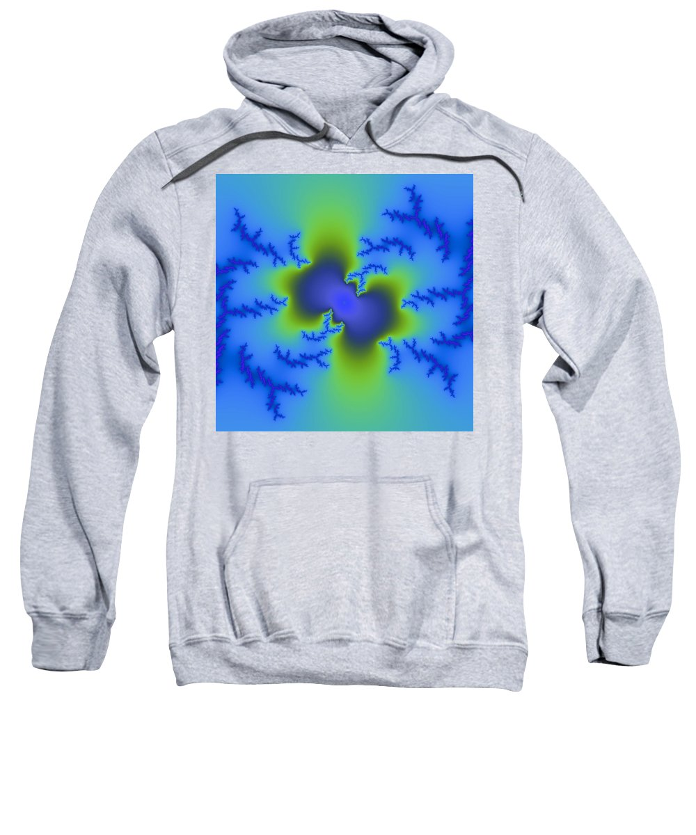 Abstract Sweatshirt featuring the digital art Electrified by Christy Leigh