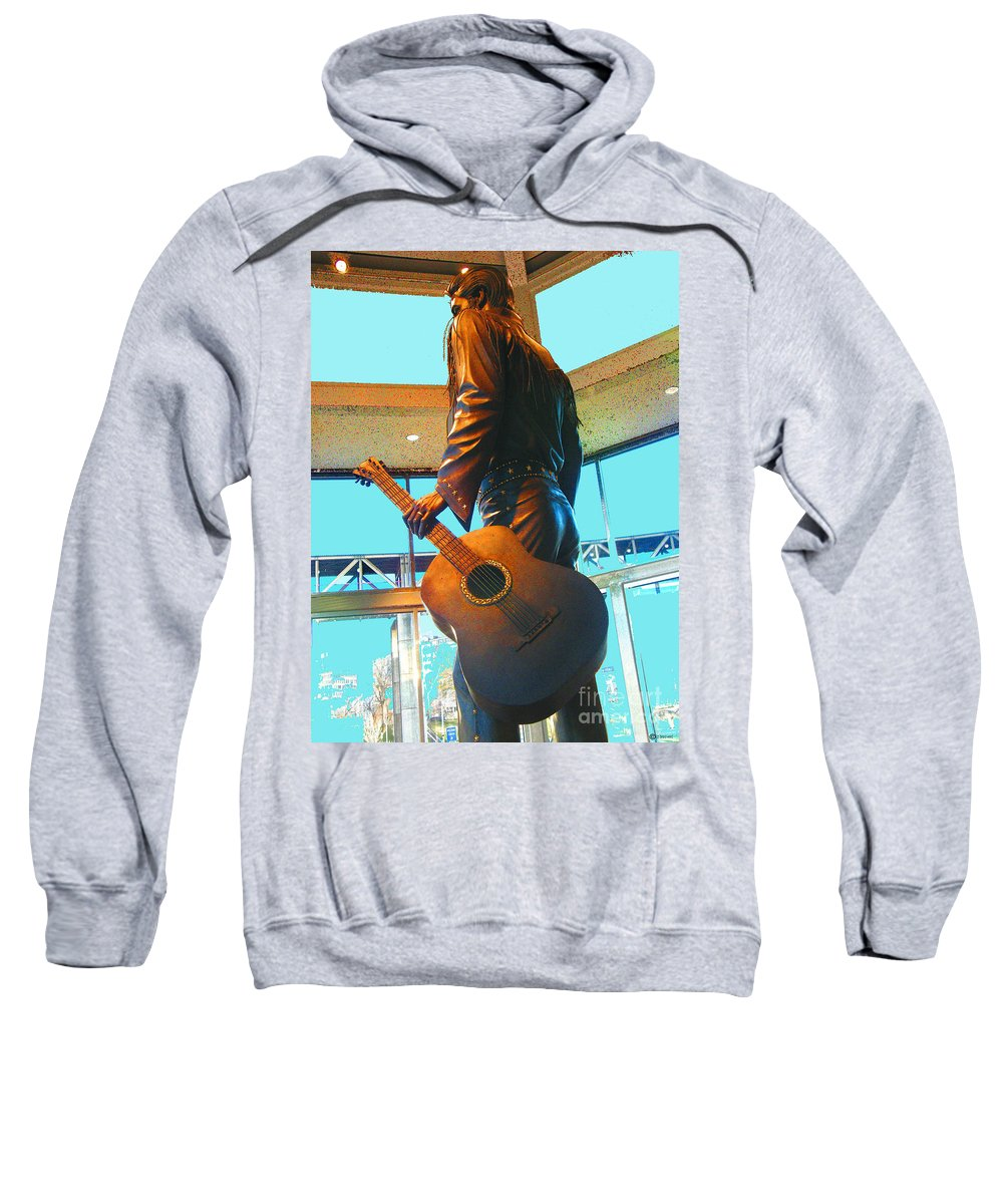 Elvis Sweatshirt featuring the photograph Elvis In Bronze At Memphis by Lizi Beard-Ward