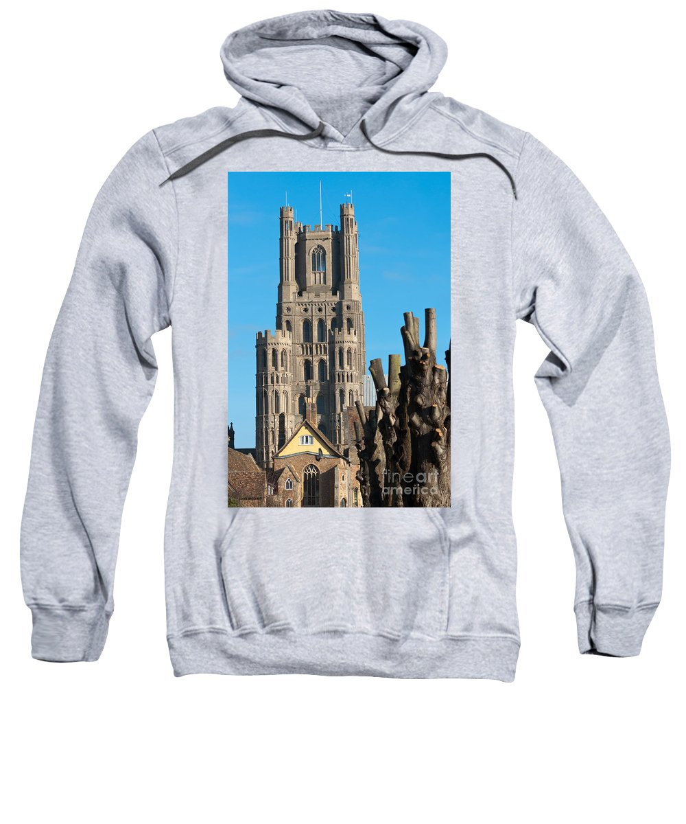 Anglia Sweatshirt featuring the photograph Ely Cathedral by Andrew Michael