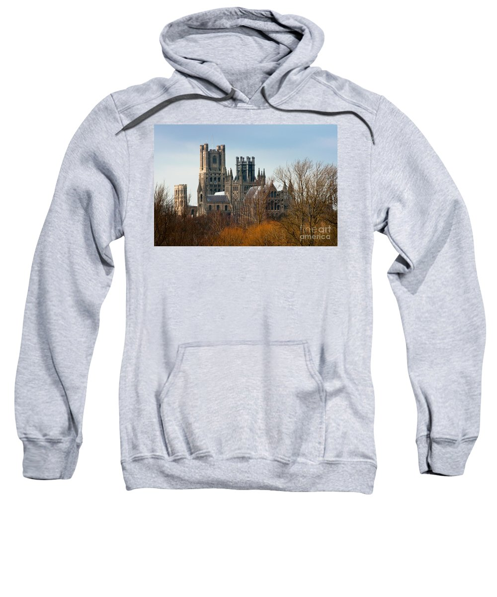 Anglia Sweatshirt featuring the photograph Ely Cathedral Scenic by Andrew Michael