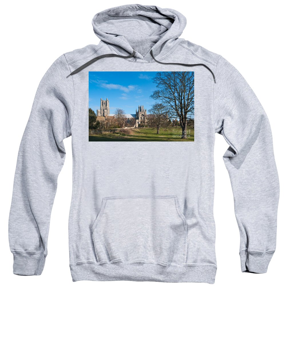 Anglia Sweatshirt featuring the photograph Ely Scenic by Andrew Michael