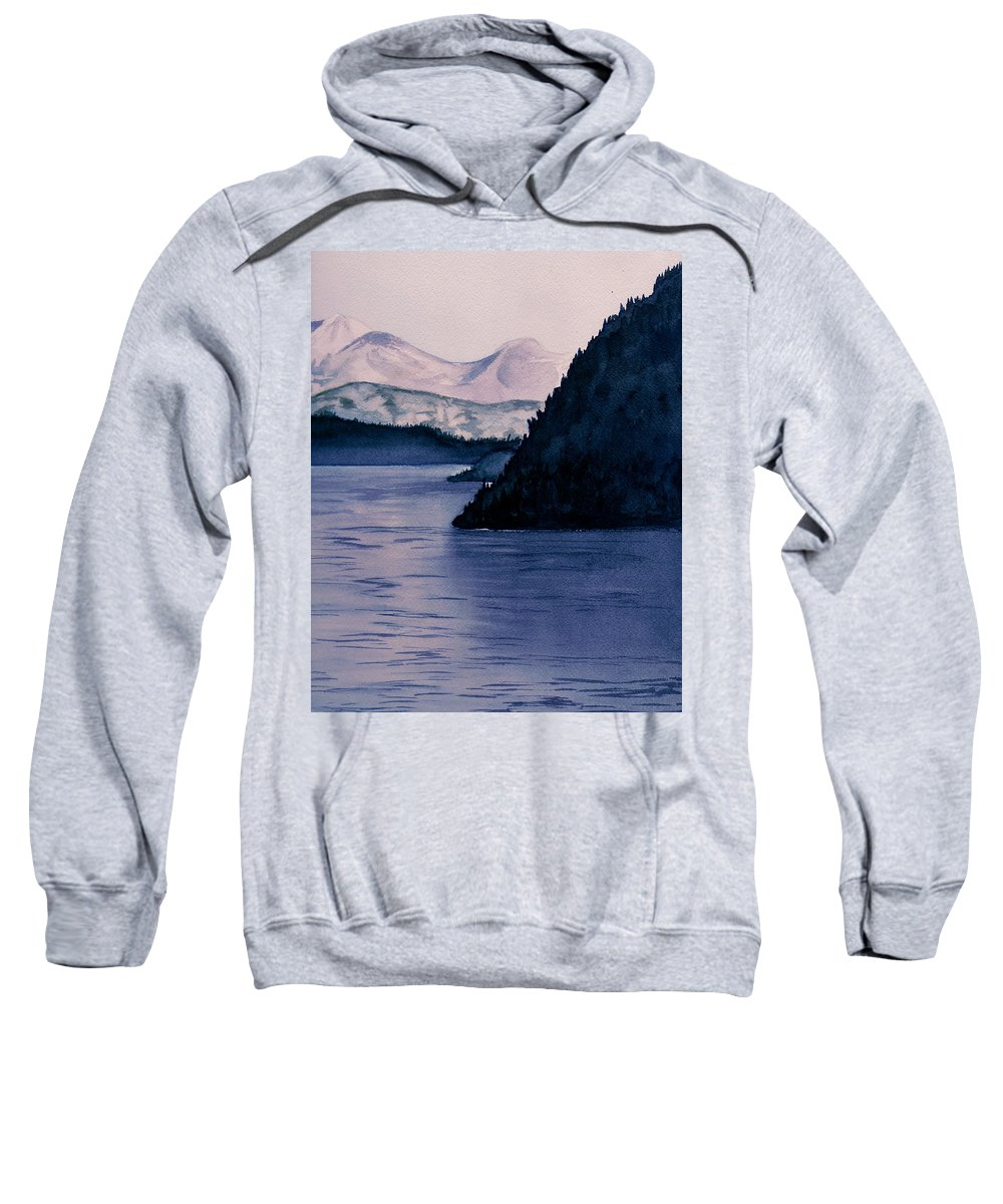 Watercolor Sweatshirt featuring the painting End Of Day by Brenda Owen