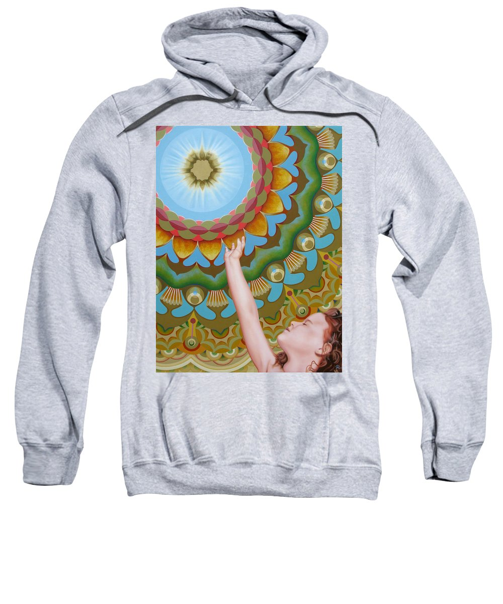 Sun Sweatshirt featuring the painting Enfant Soleil by Pascal Roy