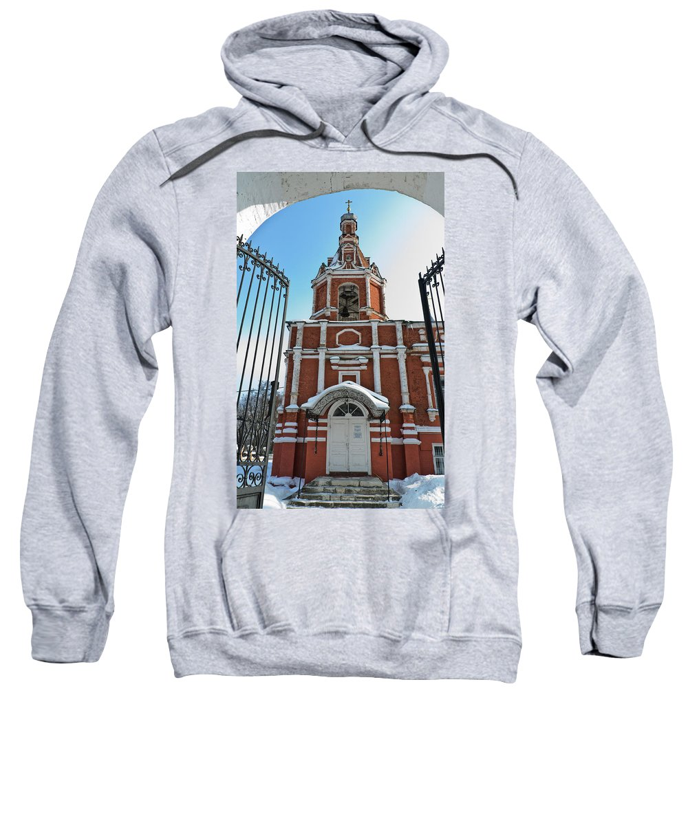 Ancient Sweatshirt featuring the photograph Entrance To The Church by Michael Goyberg
