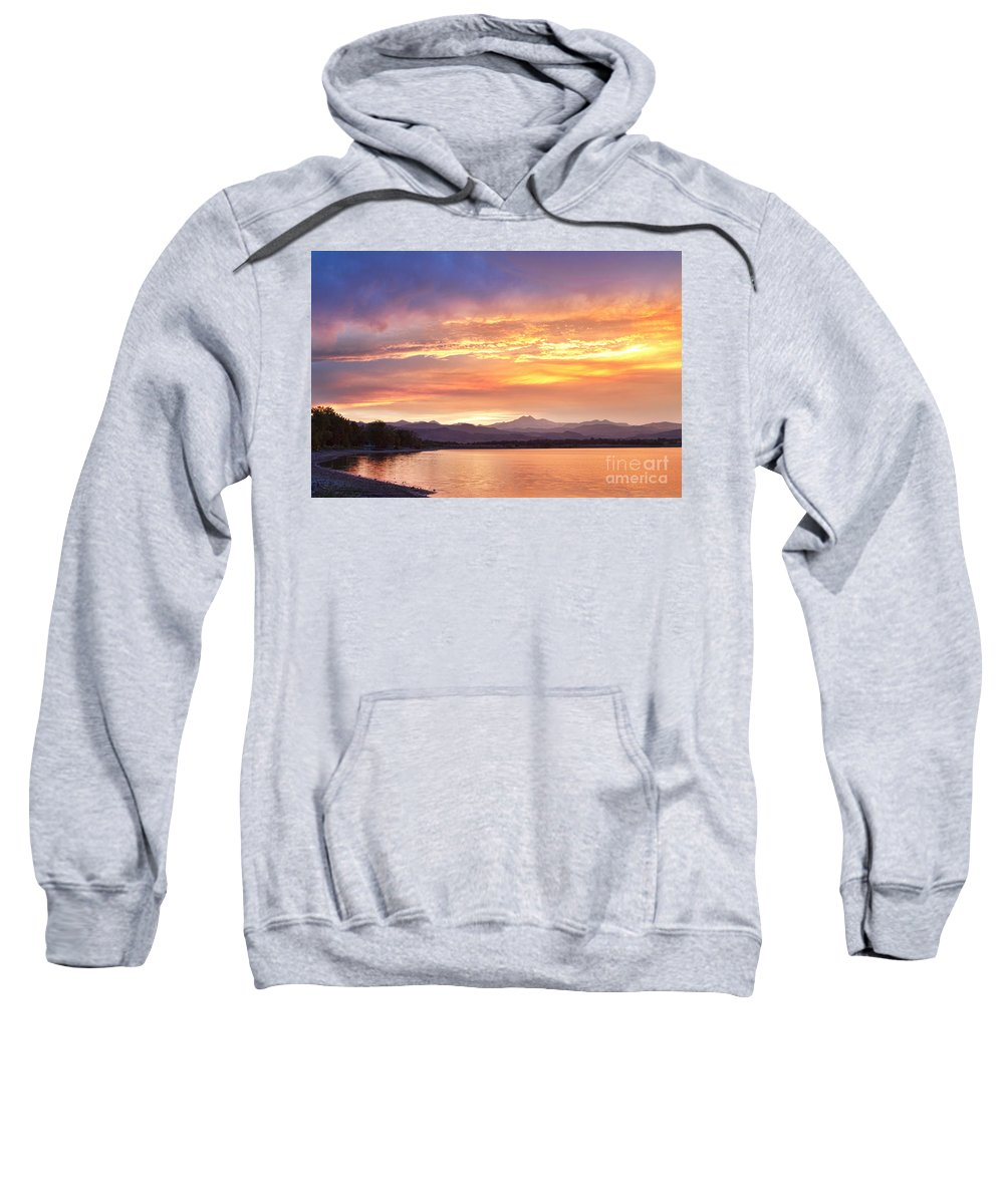 colorado Nature Sweatshirt featuring the photograph Epic August Colorado Sunset by James BO Insogna