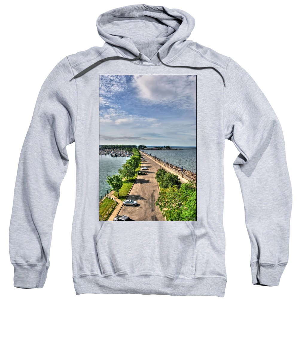 Sweatshirt featuring the photograph Erie Basin Marina Summer Series 0001 by Michael Frank Jr