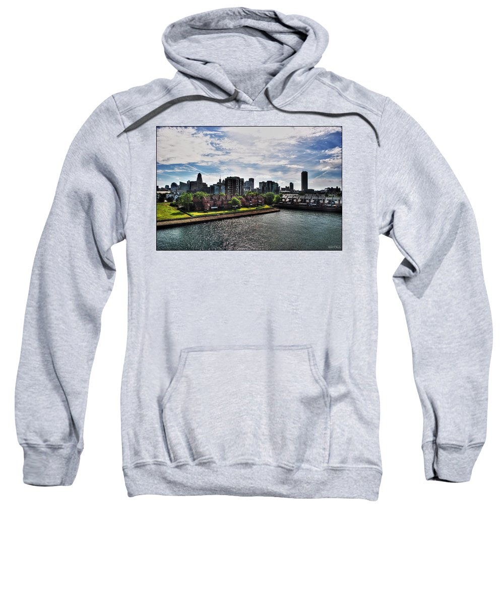 Sweatshirt featuring the photograph Erie Basin Marina Summer Series 0002 by Michael Frank Jr