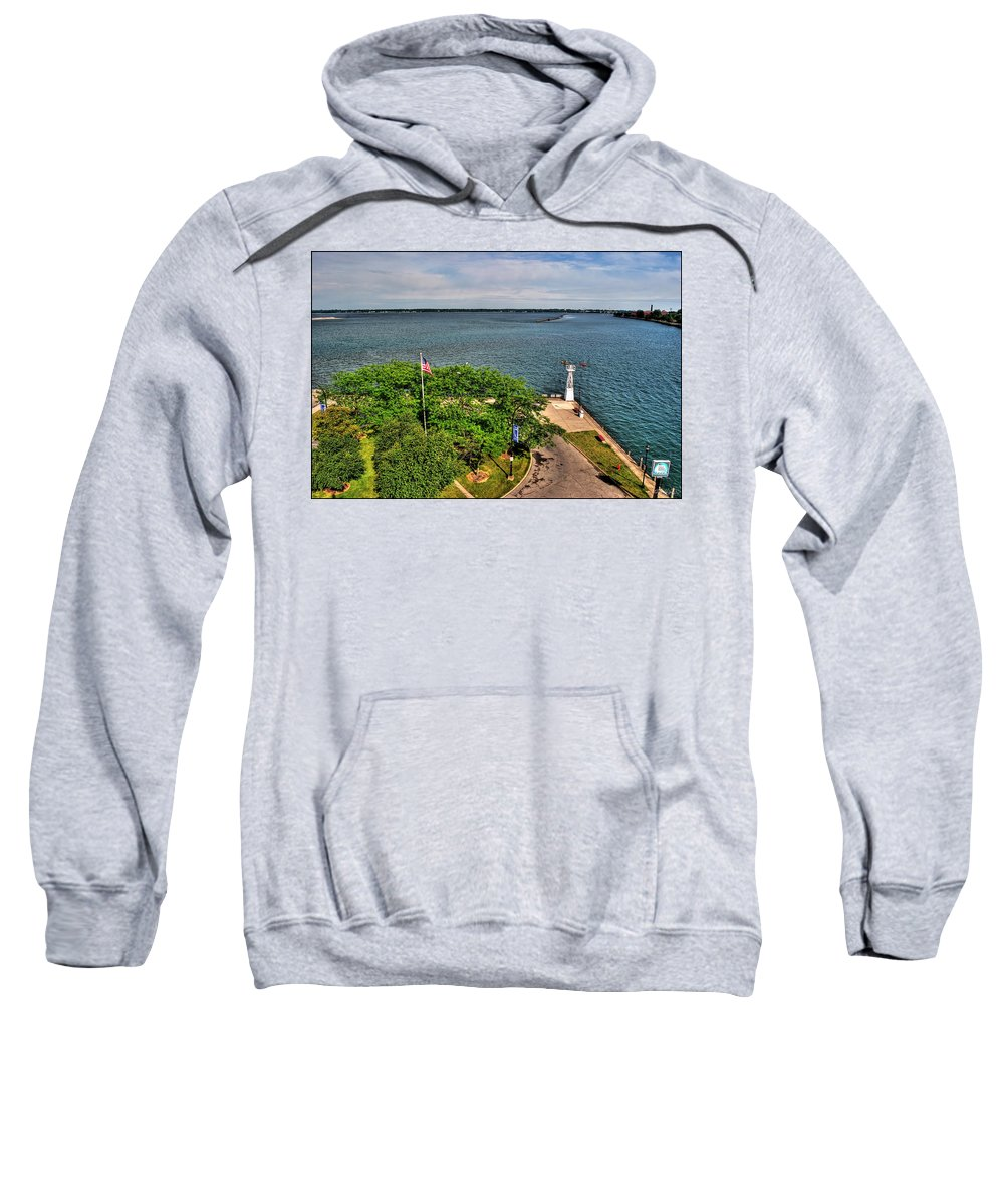 Sweatshirt featuring the photograph Erie Basin Marina Summer Series 0004 by Michael Frank Jr