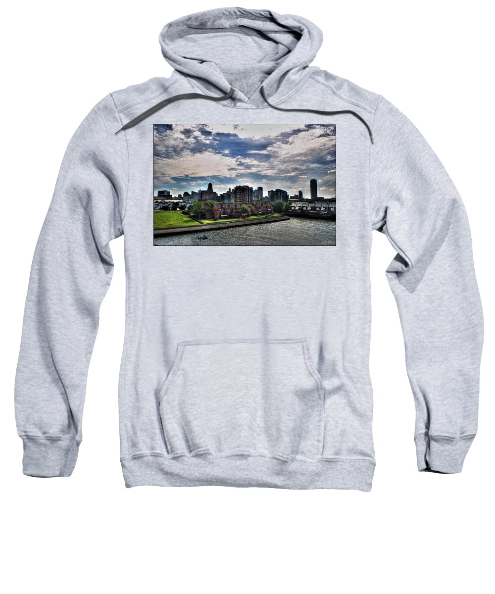 Sweatshirt featuring the photograph Erie Basin Marina Summer Series 0005 by Michael Frank Jr