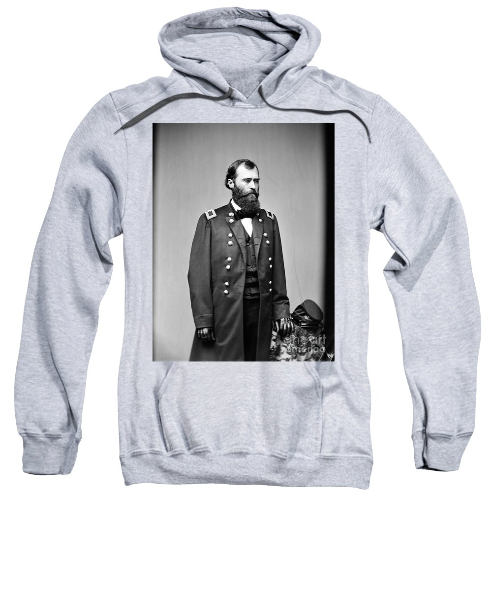1860s Sweatshirt featuring the photograph Eugene Asa Carr (1830-1910) by Granger