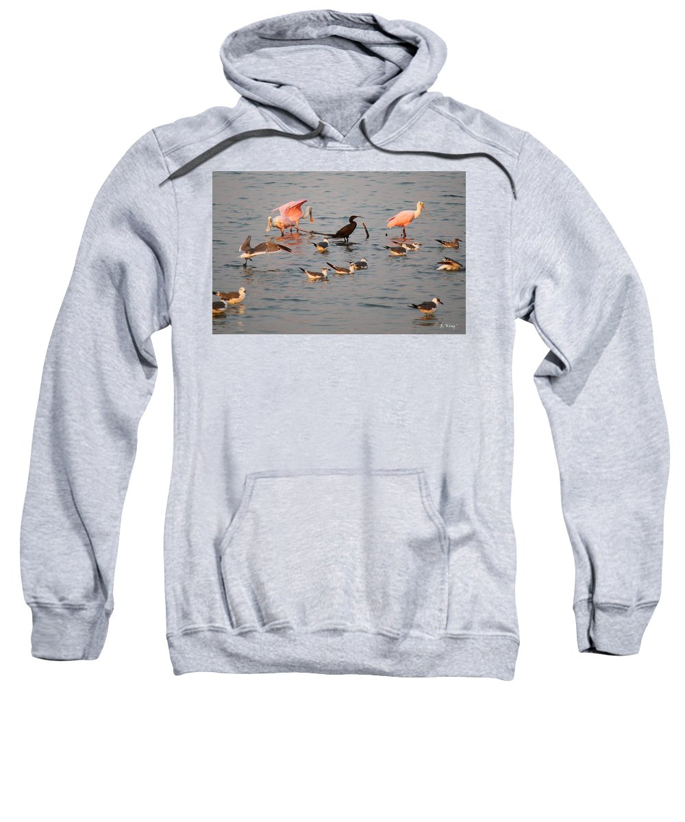 Roena King Sweatshirt featuring the photograph Evening Activity In The Bay by Roena King