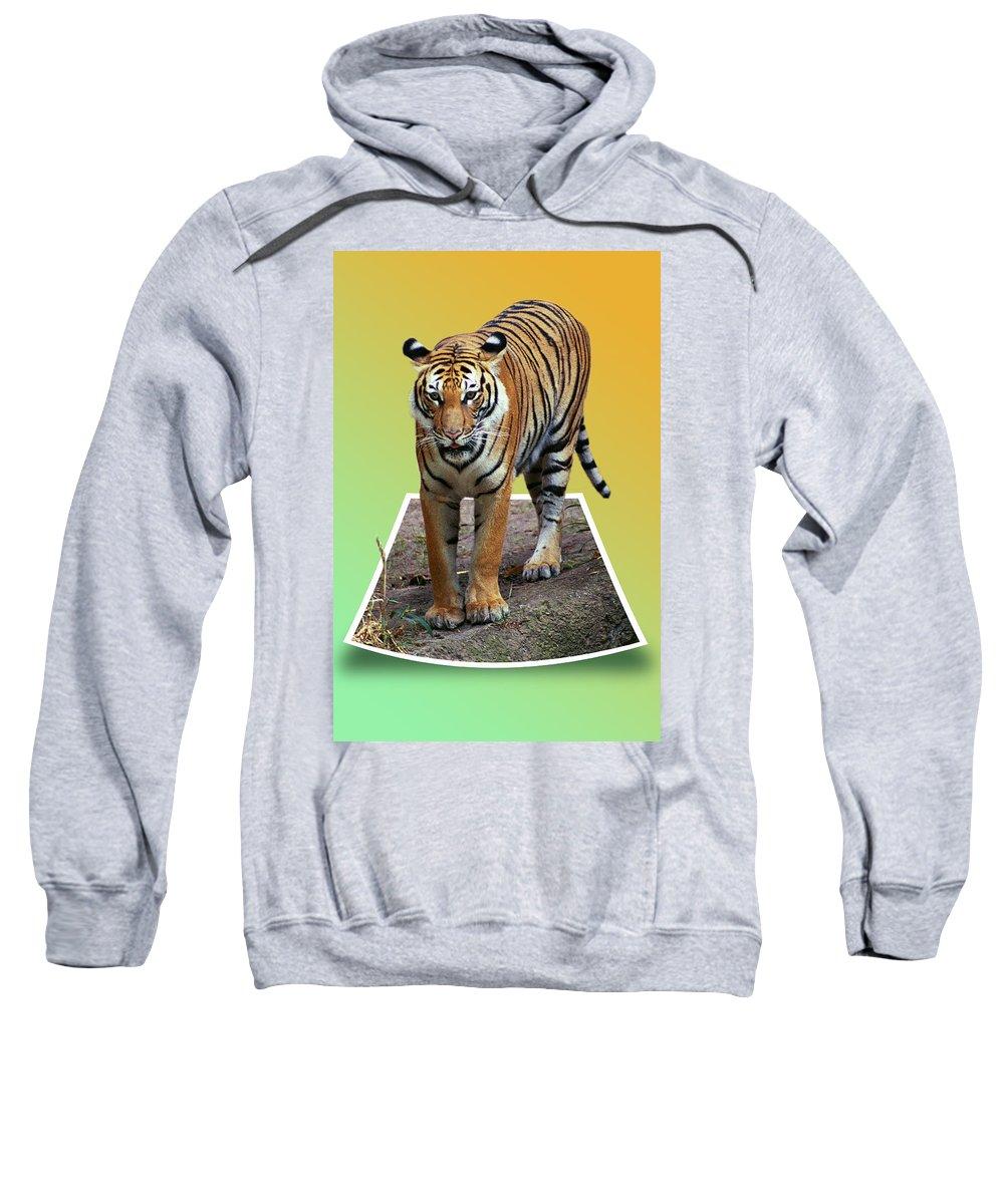 Sweatshirt featuring the photograph Eye Balling You by Michael Frank Jr
