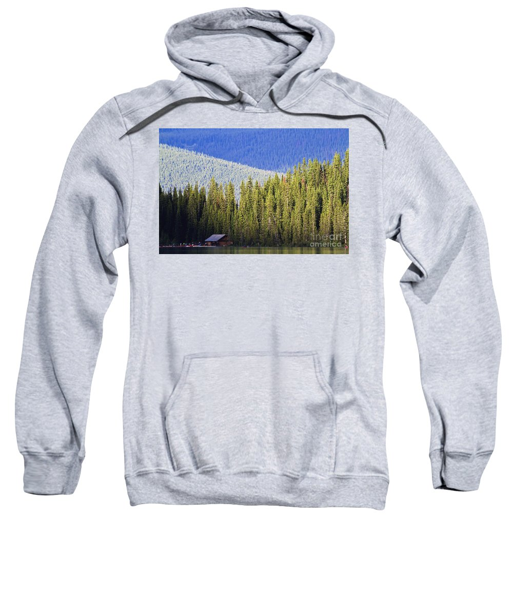 Lake Louise Sweatshirt featuring the photograph Fade To Blue by Dennis Hedberg