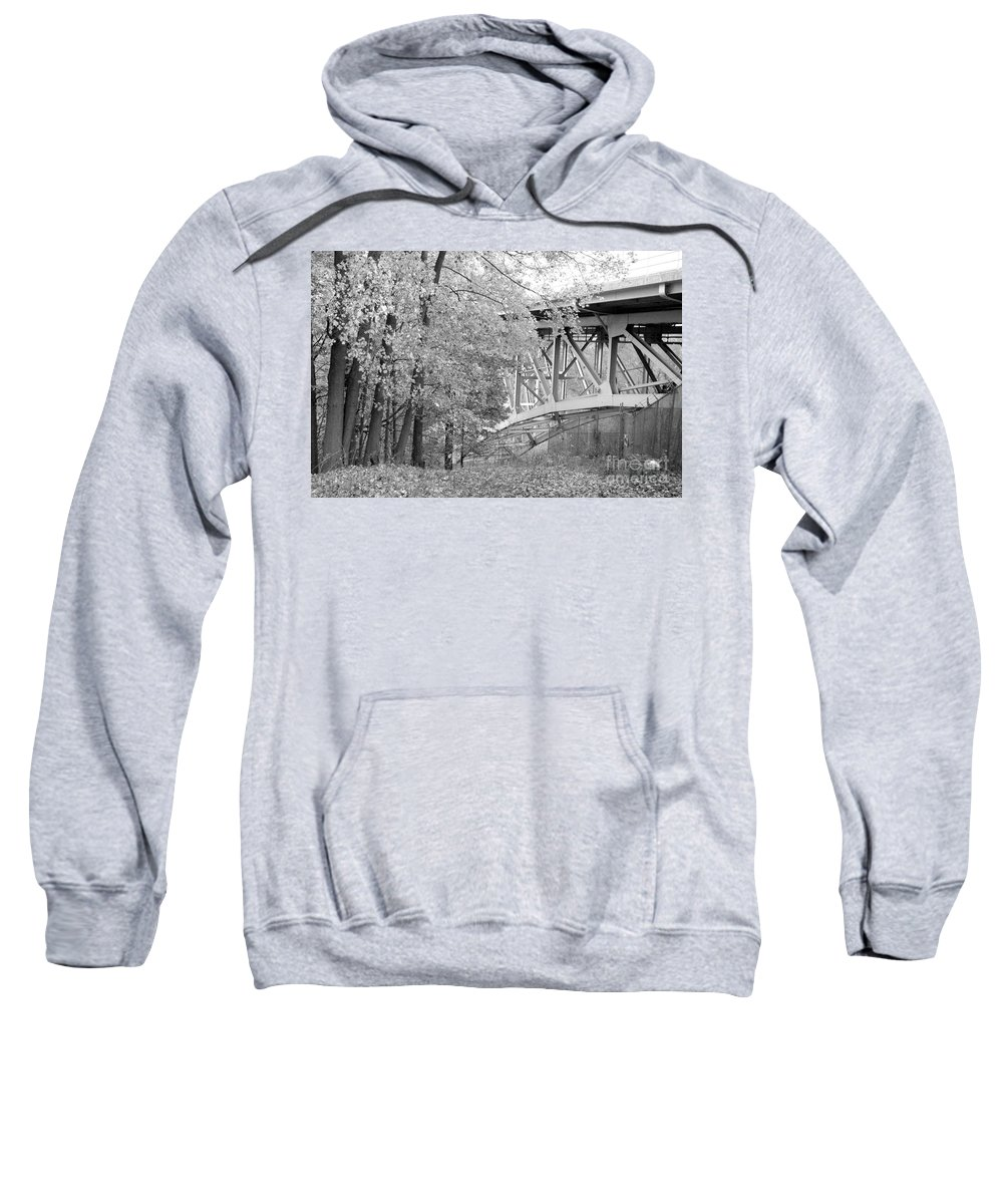 Fall Sweatshirt featuring the photograph Falling Under The Bridge by Trish Hale