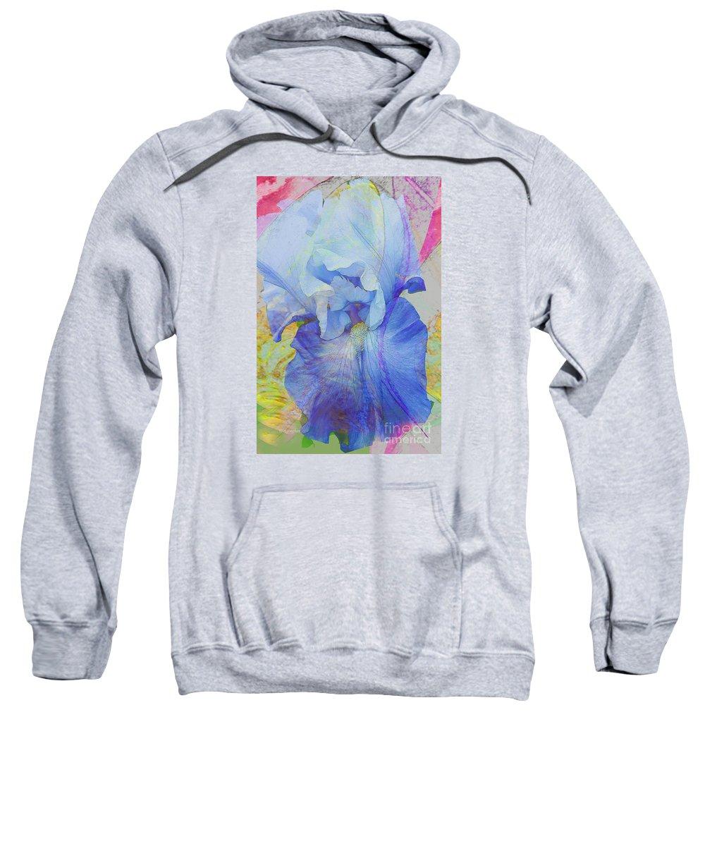 Iris Sweatshirt featuring the photograph Fanciful Flowers - Iris by Regina Geoghan