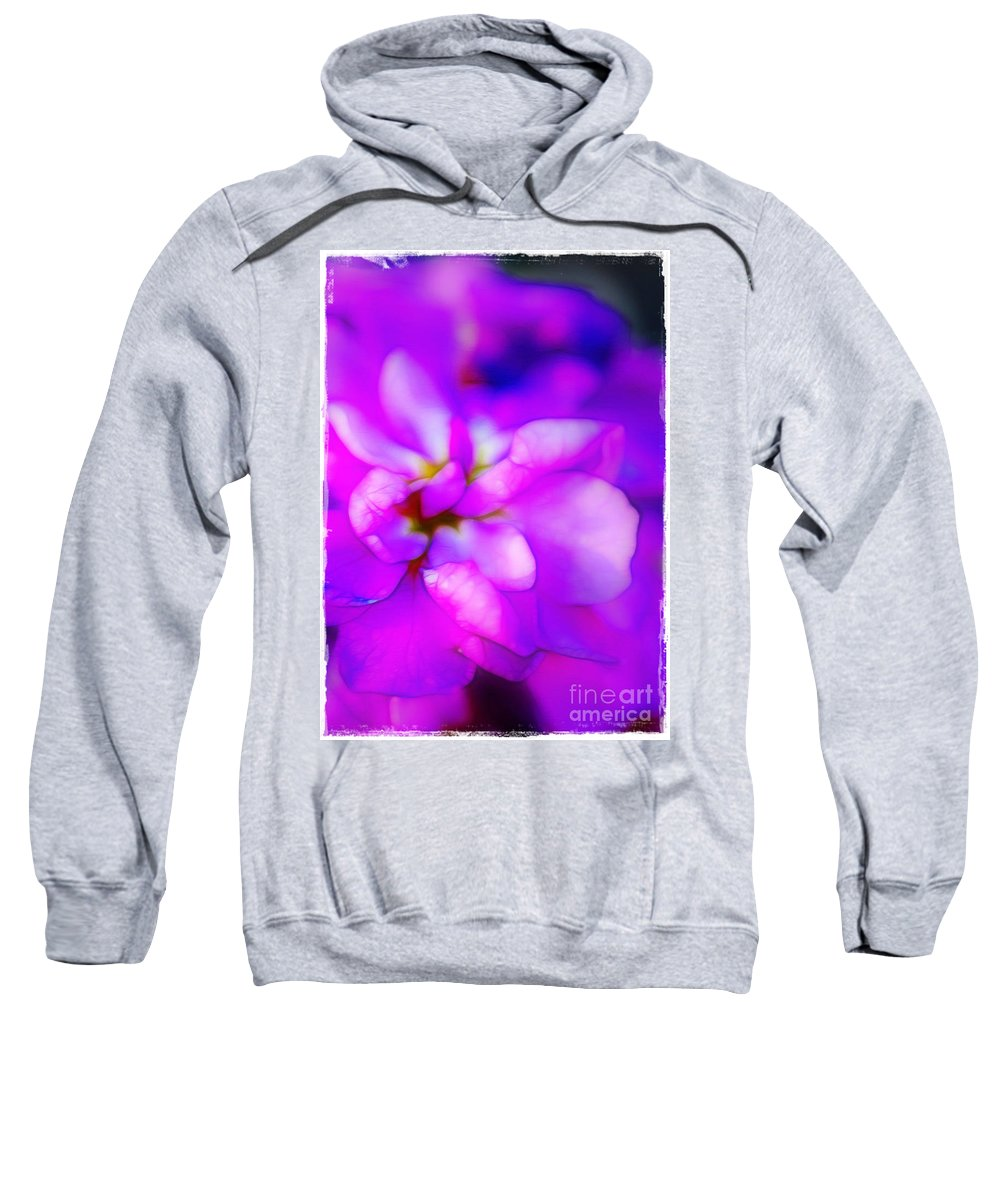 Purple Sweatshirt featuring the photograph Fantasy In Fuchsia by Judi Bagwell