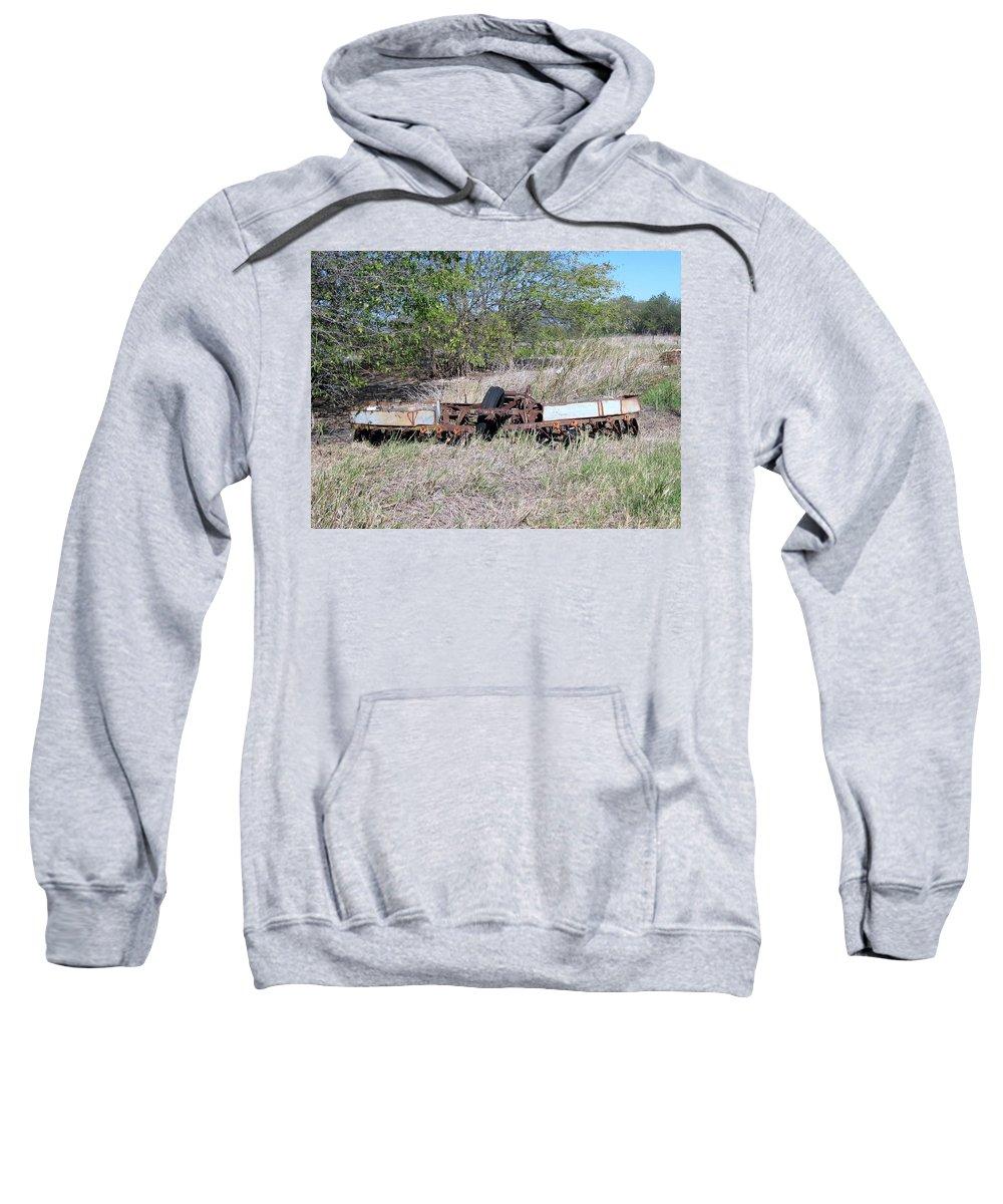 Sweatshirt featuring the photograph Farm Equipment by Amy Hosp