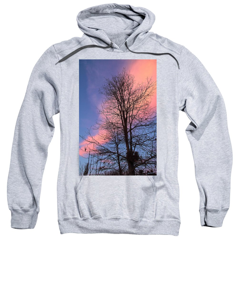 February Sweatshirt featuring the photograph February Sunset by Mick Anderson