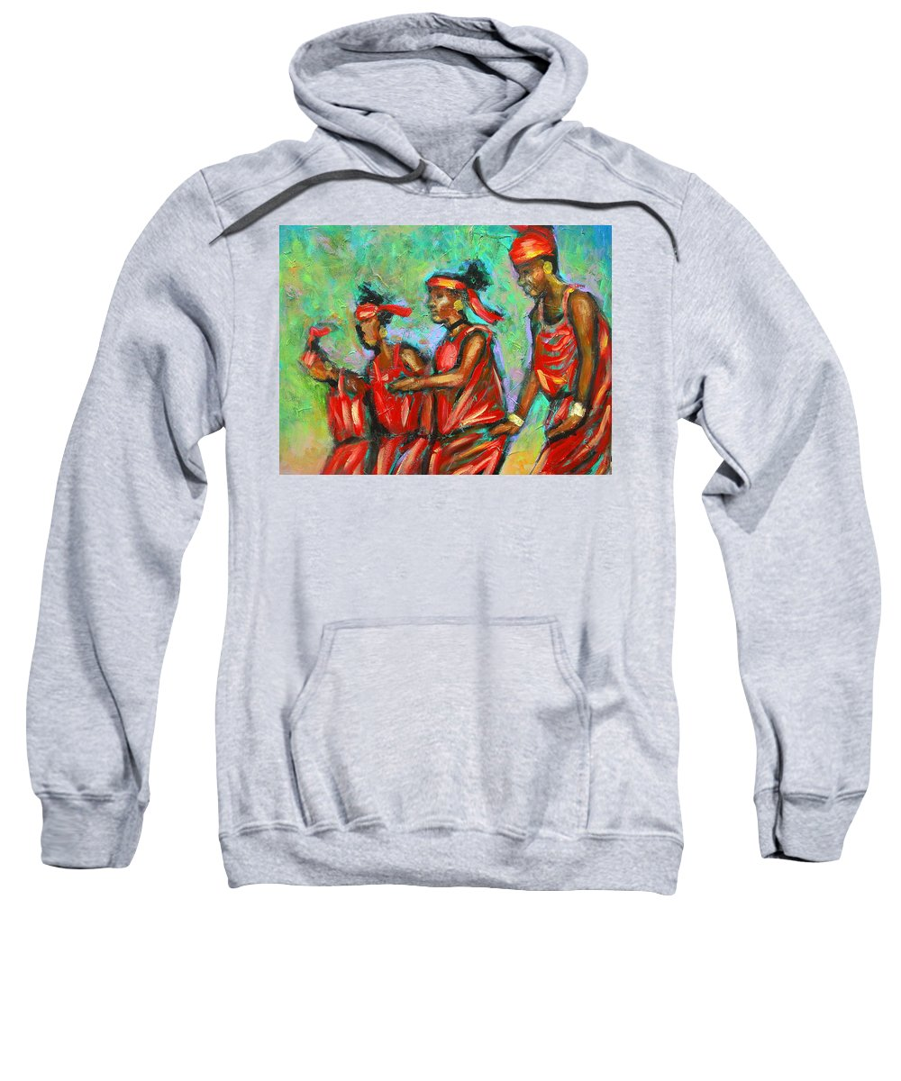 Sweatshirt featuring the painting Feel The Spirit by Jan Gilmore