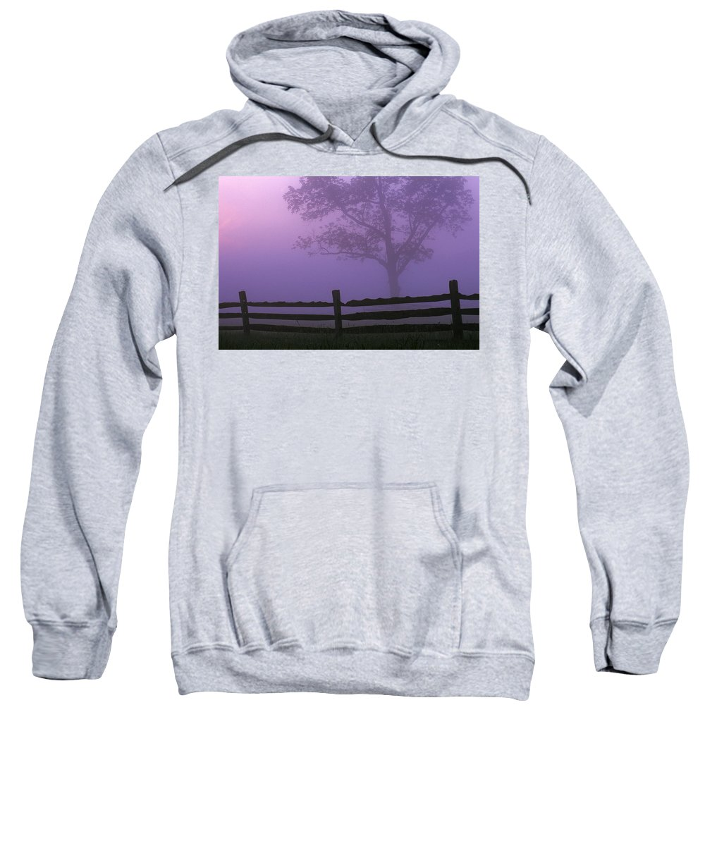 Country Sweatshirt featuring the photograph Fenceline Silhouette With Tree by Natural Selection Tony Sweet